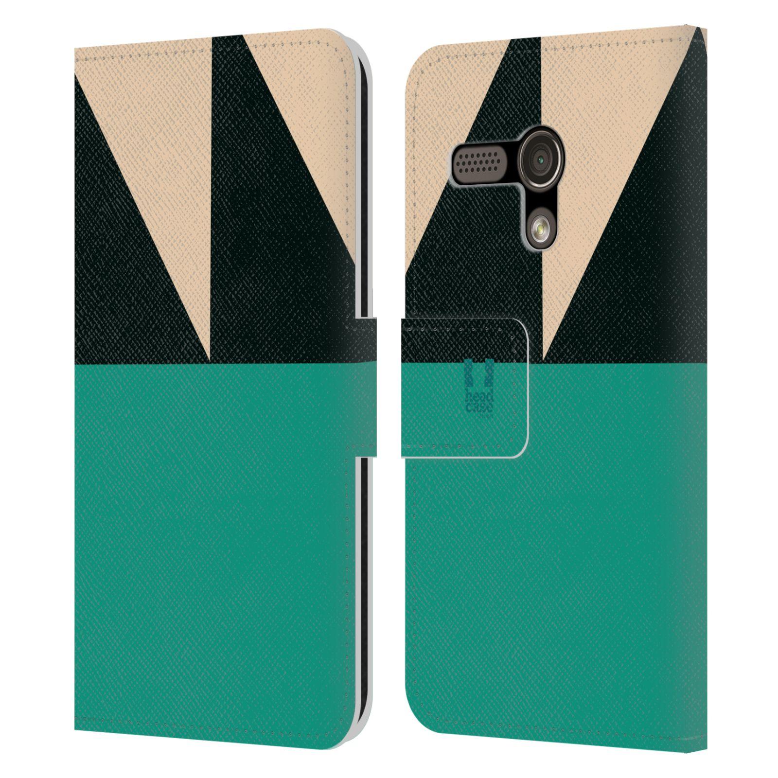 HEAD CASE Flipové pouzdro pro mobil Motorola MOTO G barevné tvary moře modrá