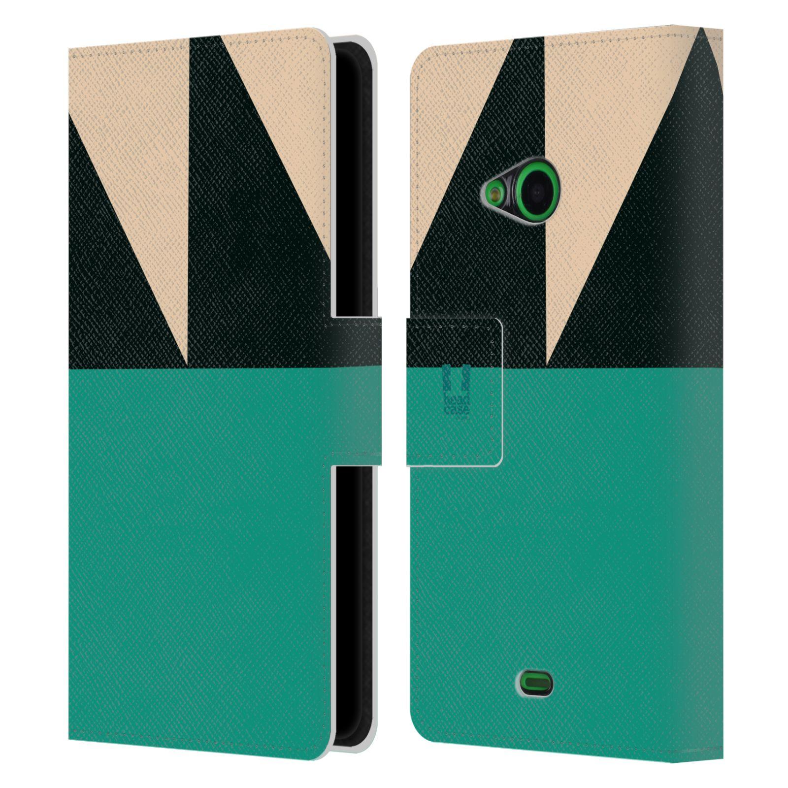 HEAD CASE Flipové pouzdro pro mobil Nokia LUMIA 535 barevné tvary moře modrá