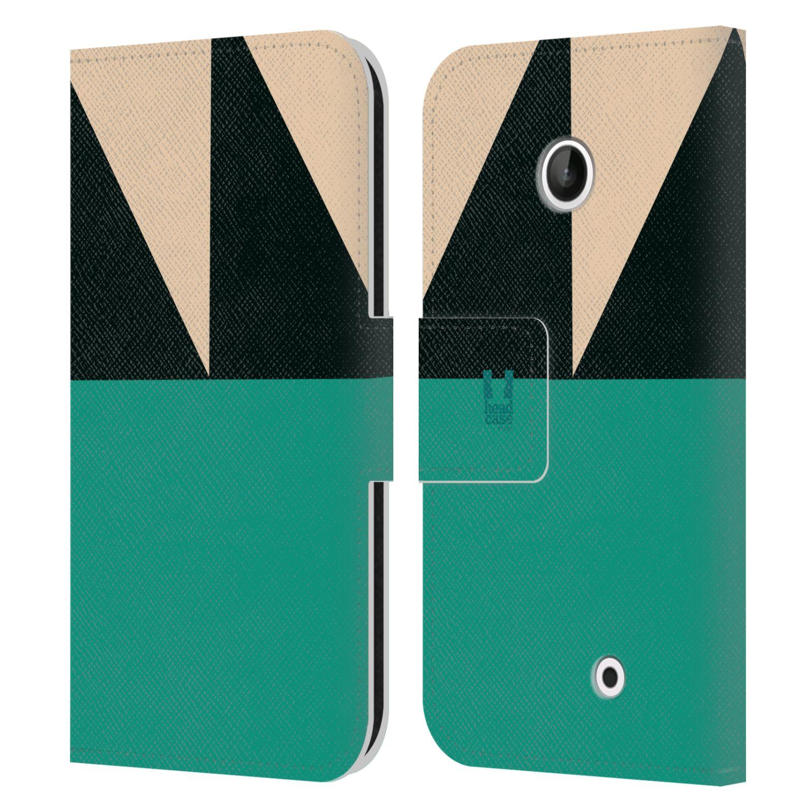 HEAD CASE Flipové pouzdro pro mobil Nokia LUMIA 630/630 DUAL barevné tvary moře modrá