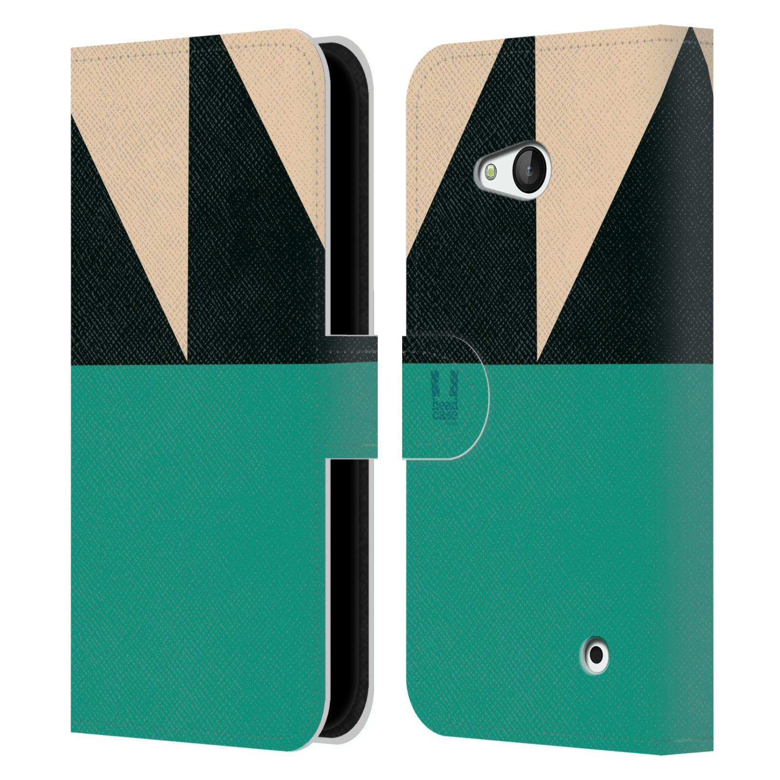 HEAD CASE Flipové pouzdro pro mobil Nokia LUMIA 640 barevné tvary moře modrá