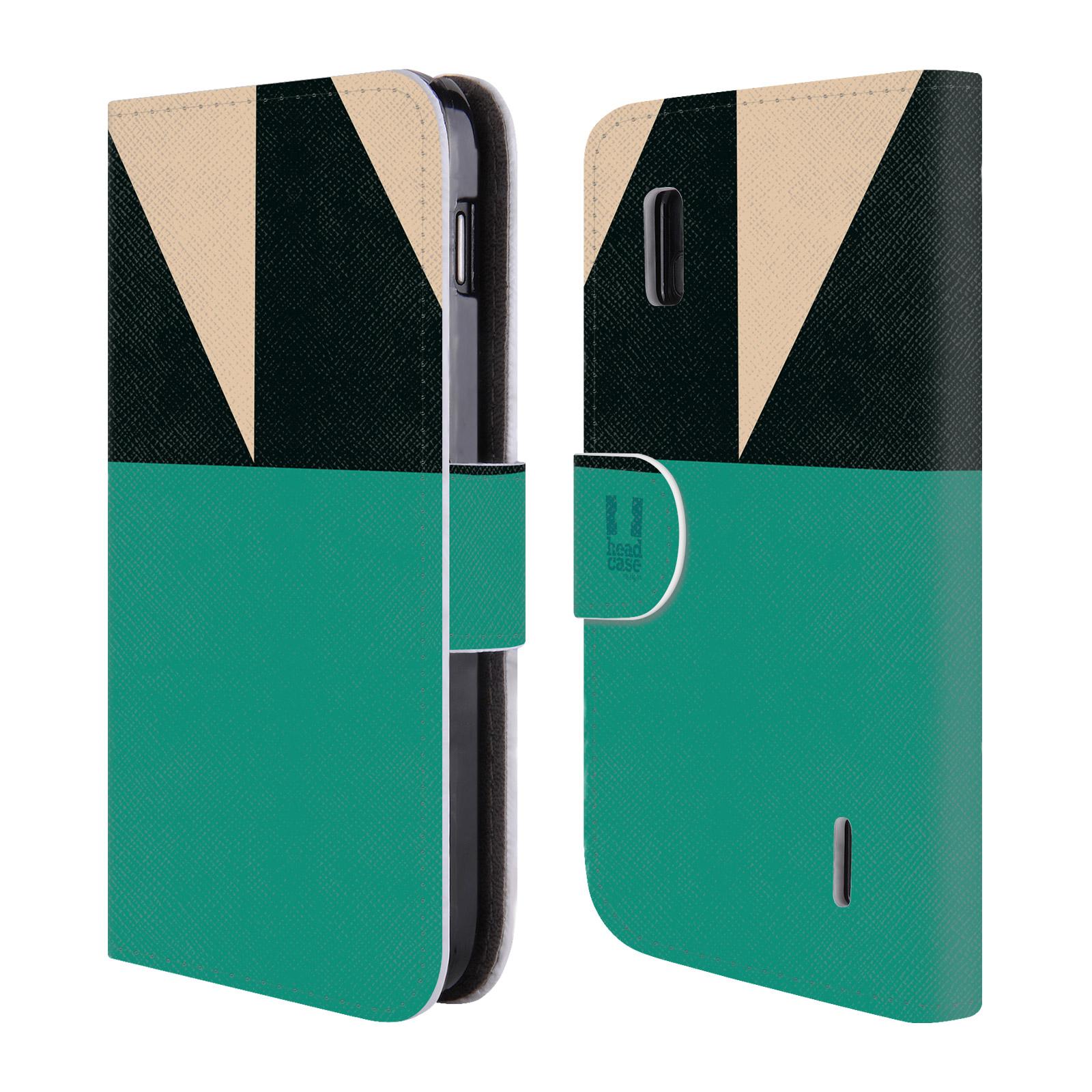 HEAD CASE Flipové pouzdro pro mobil LG NEXUS 4 barevné tvary moře modrá