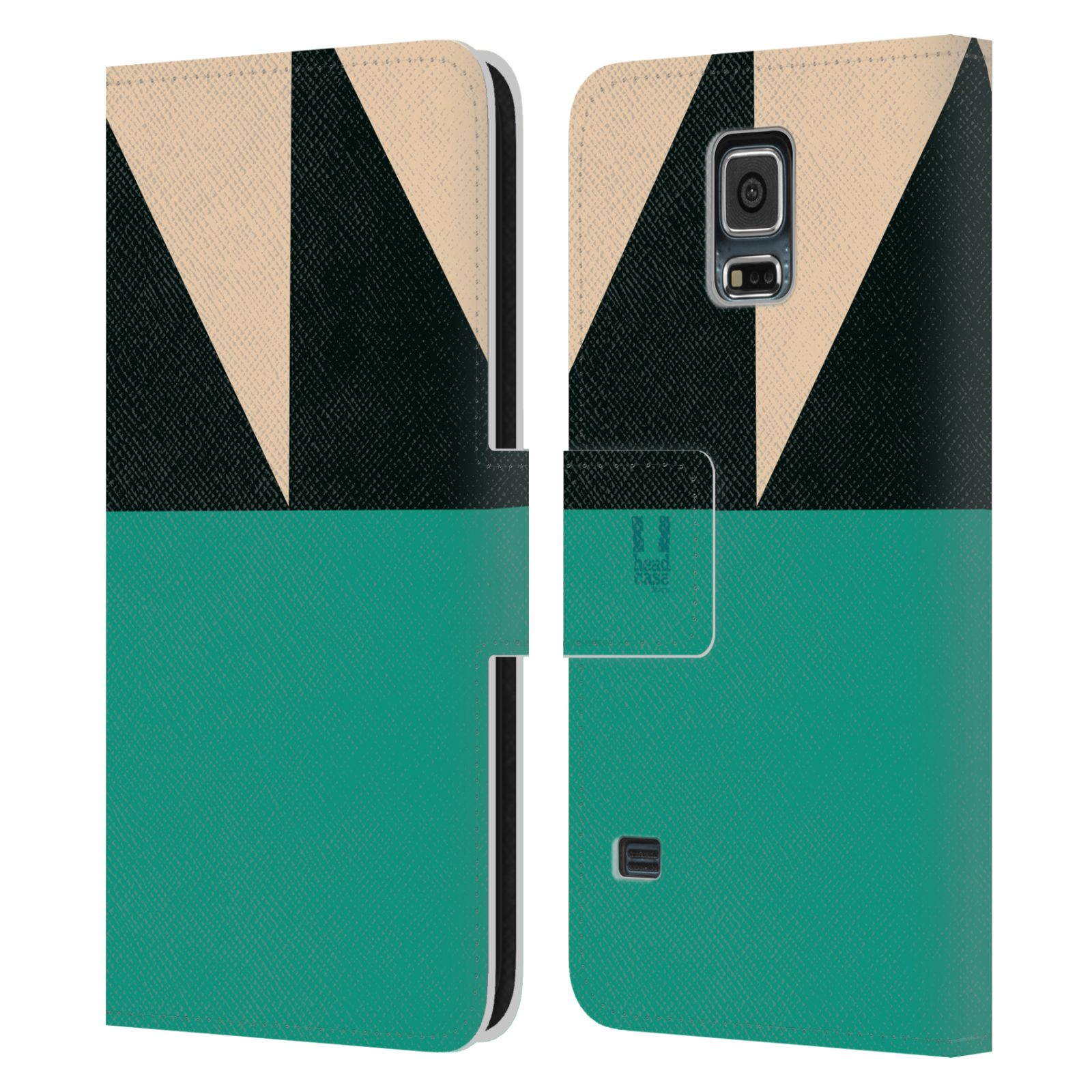 HEAD CASE Flipové pouzdro pro mobil Samsung Galaxy S5 barevné tvary moře modrá