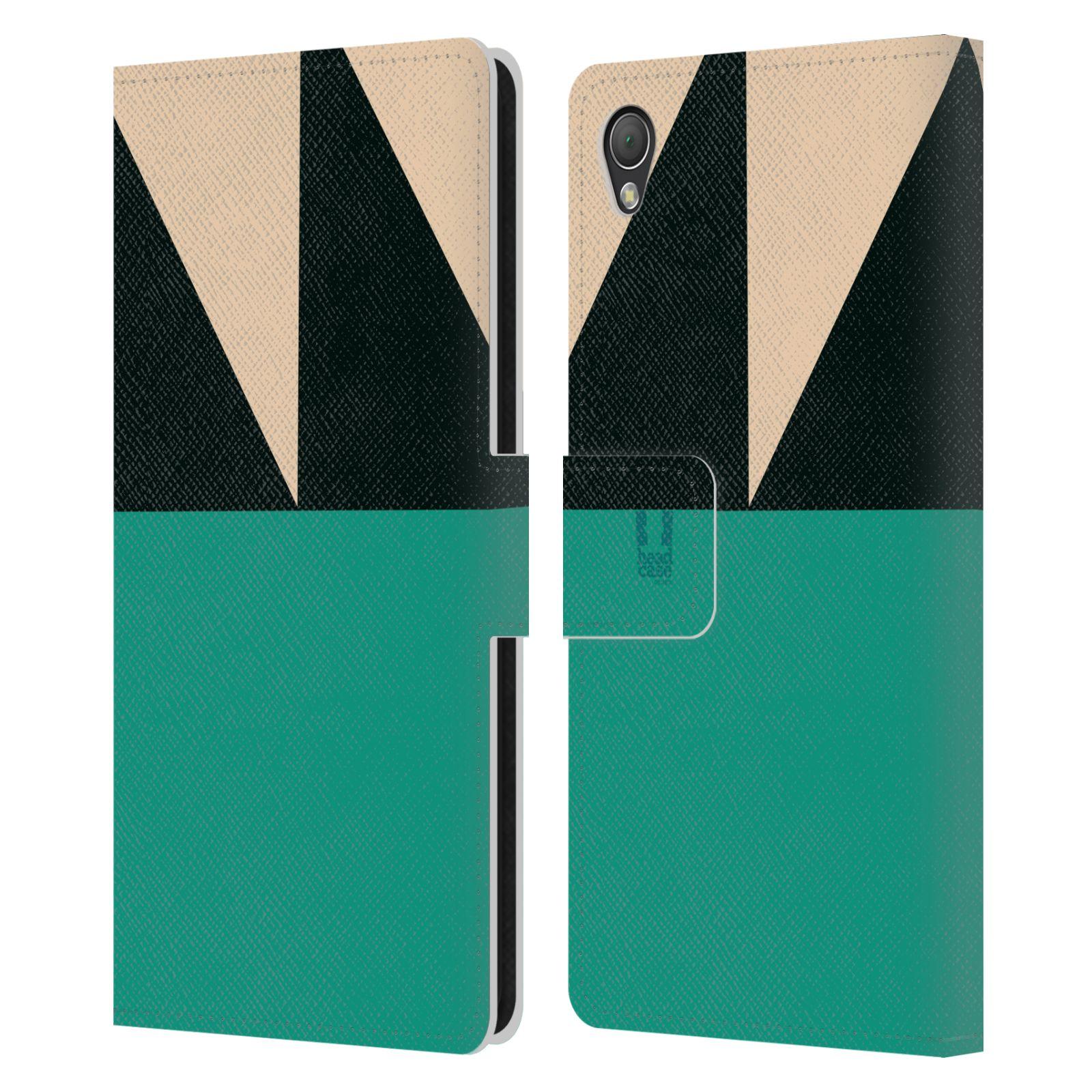 HEAD CASE Flipové pouzdro pro mobil SONY XPERIA Z3 barevné tvary moře modrá