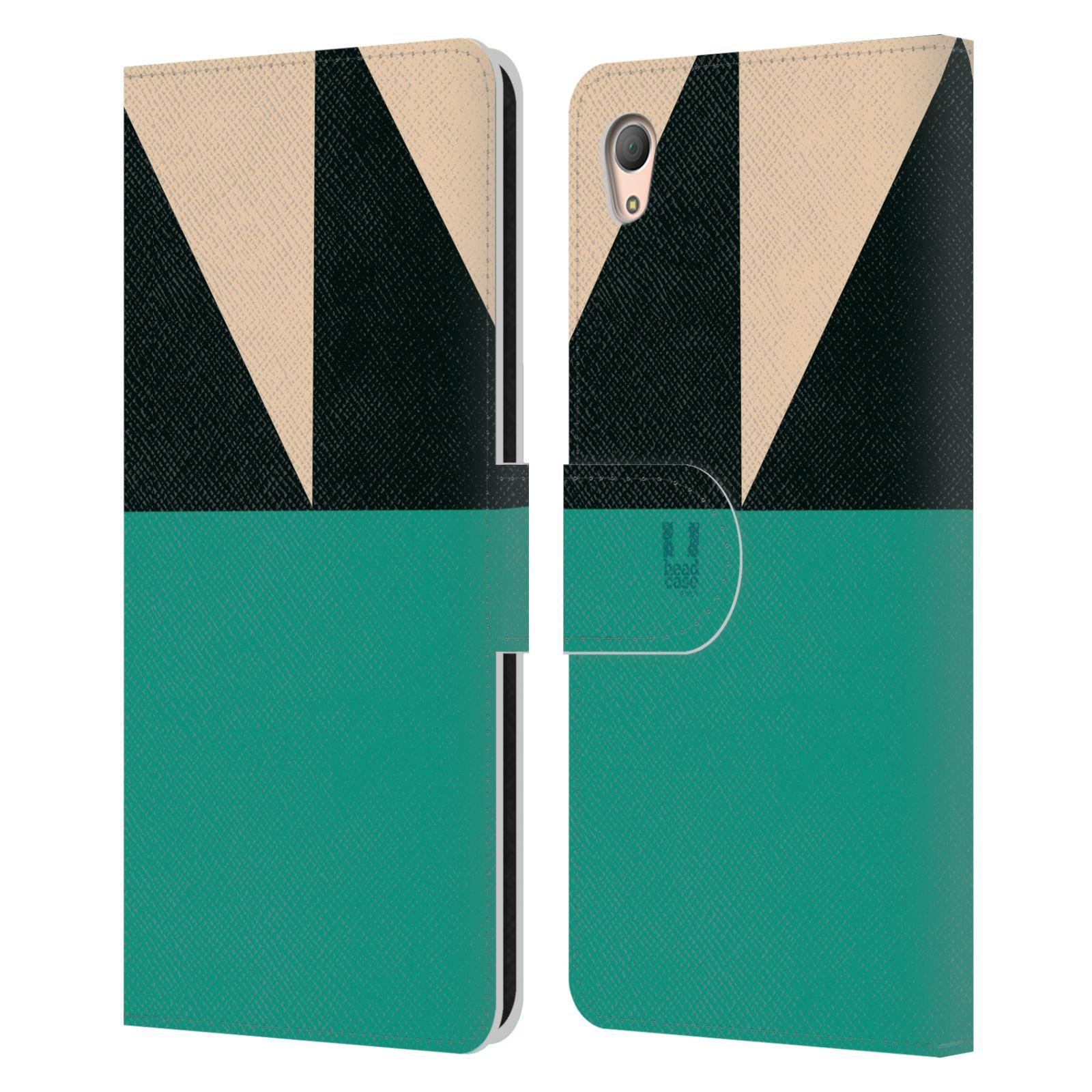HEAD CASE Flipové pouzdro pro mobil SONY XPERIA Z3+(Z3 PLUS) barevné tvary moře modrá