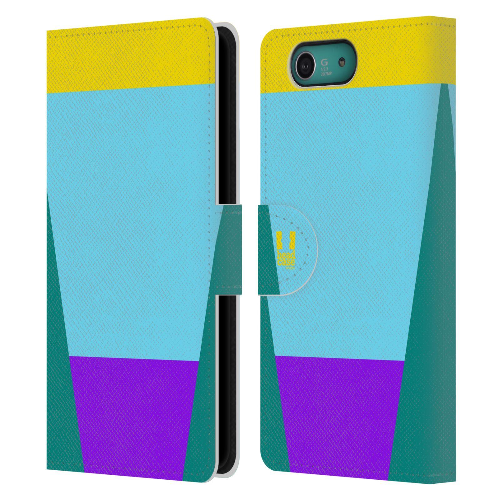 HEAD CASE Flipové pouzdro pro mobil SONY XPERIA Z3 COMPACT barevné tvary nebesky modrá