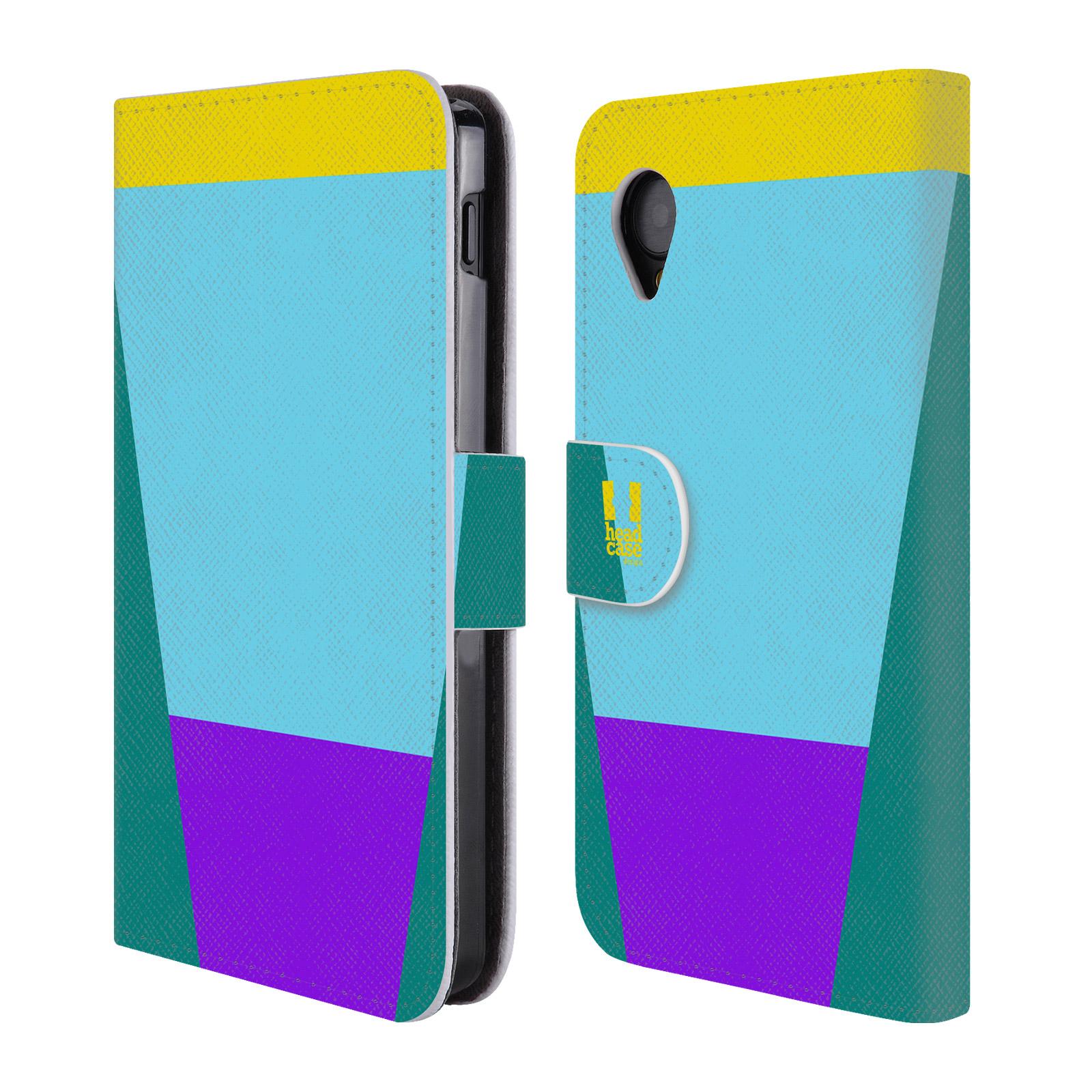 HEAD CASE Flipové pouzdro pro mobil LG GOOGLE NEXUS 5 barevné tvary nebesky modrá