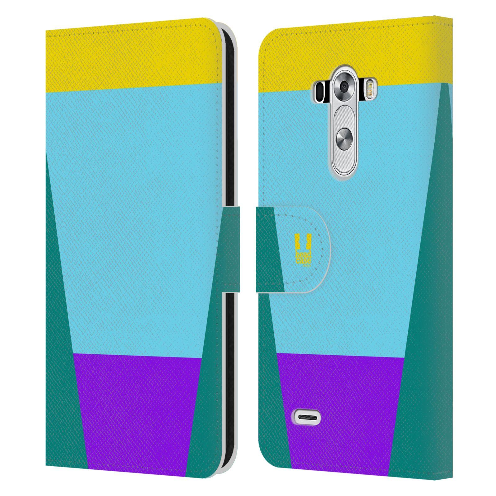HEAD CASE Flipové pouzdro pro mobil LG G3 barevné tvary nebesky modrá