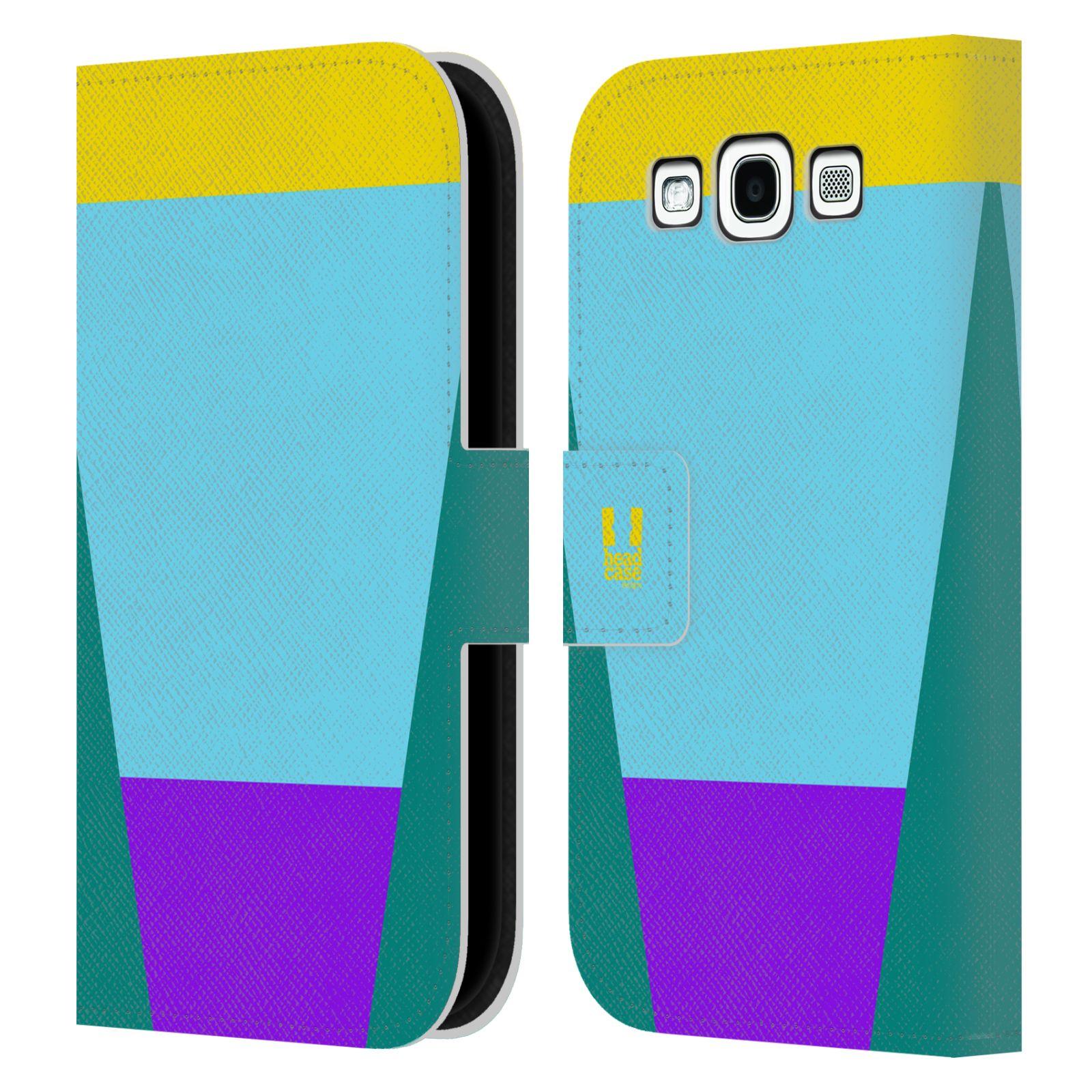 HEAD CASE Flipové pouzdro pro mobil Samsung Galaxy S3 I9300 barevné tvary nebesky modrá