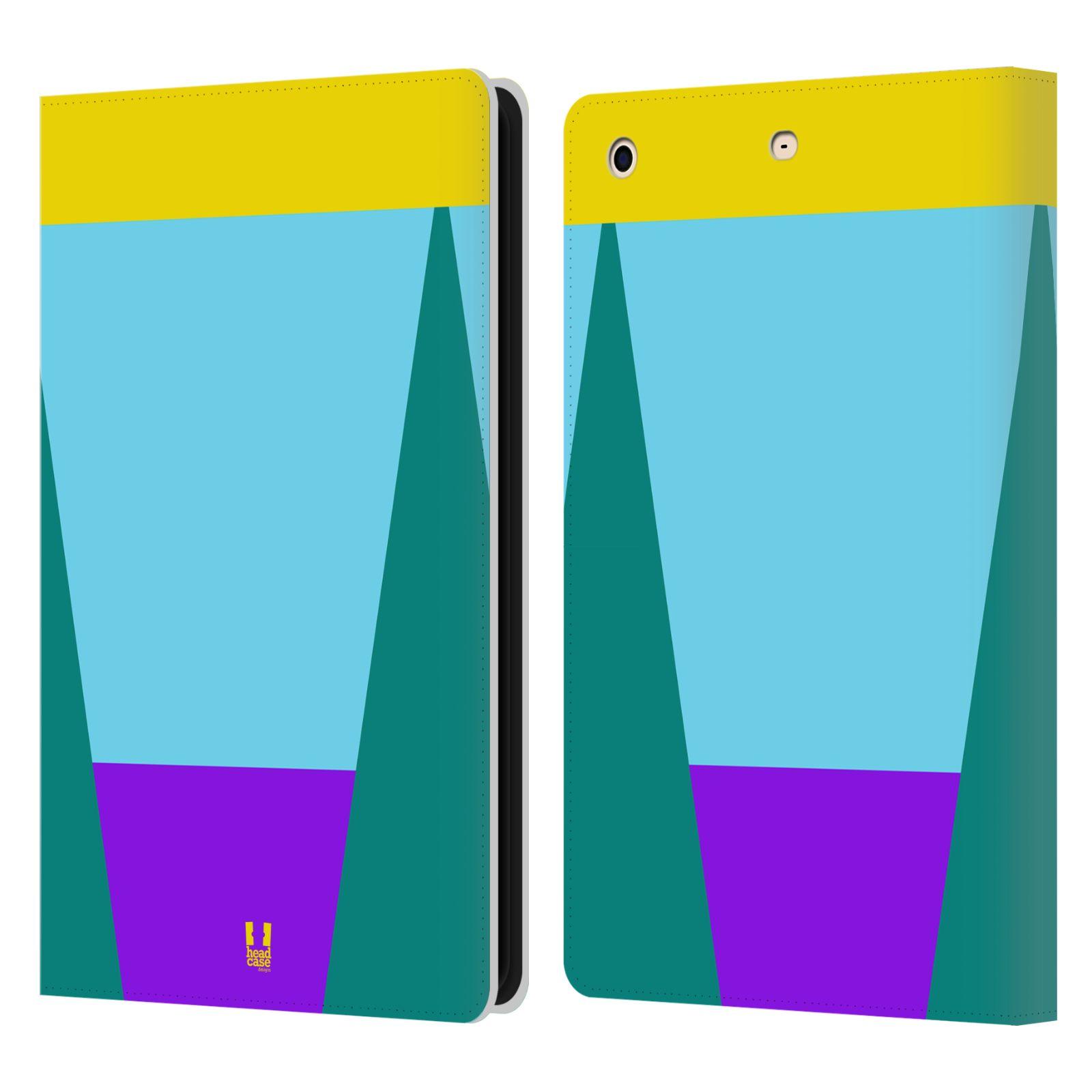 HEAD CASE Flipové pouzdro pro tablet Apple iPad mini barevné tvary nebesky modrá