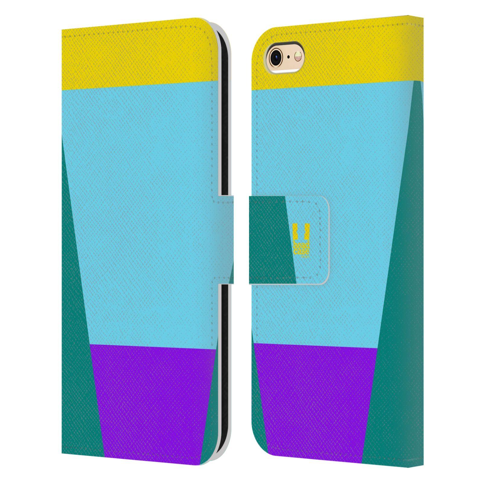 HEAD CASE Flipové pouzdro pro mobil Apple Iphone 6/6s barevné tvary nebesky modrá