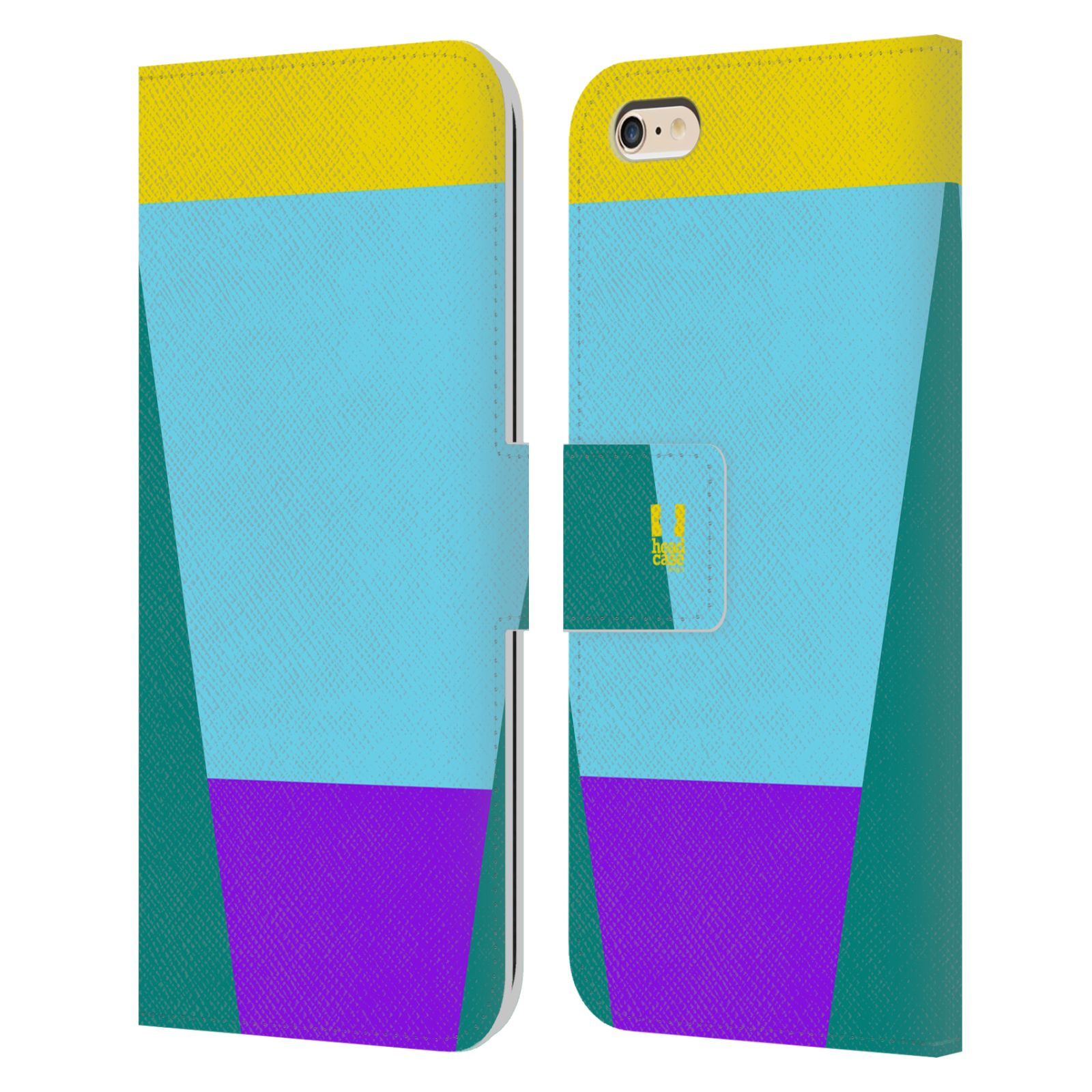 HEAD CASE Flipové pouzdro pro mobil Apple Iphone 6 PLUS/6S PLUS barevné tvary nebesky modrá