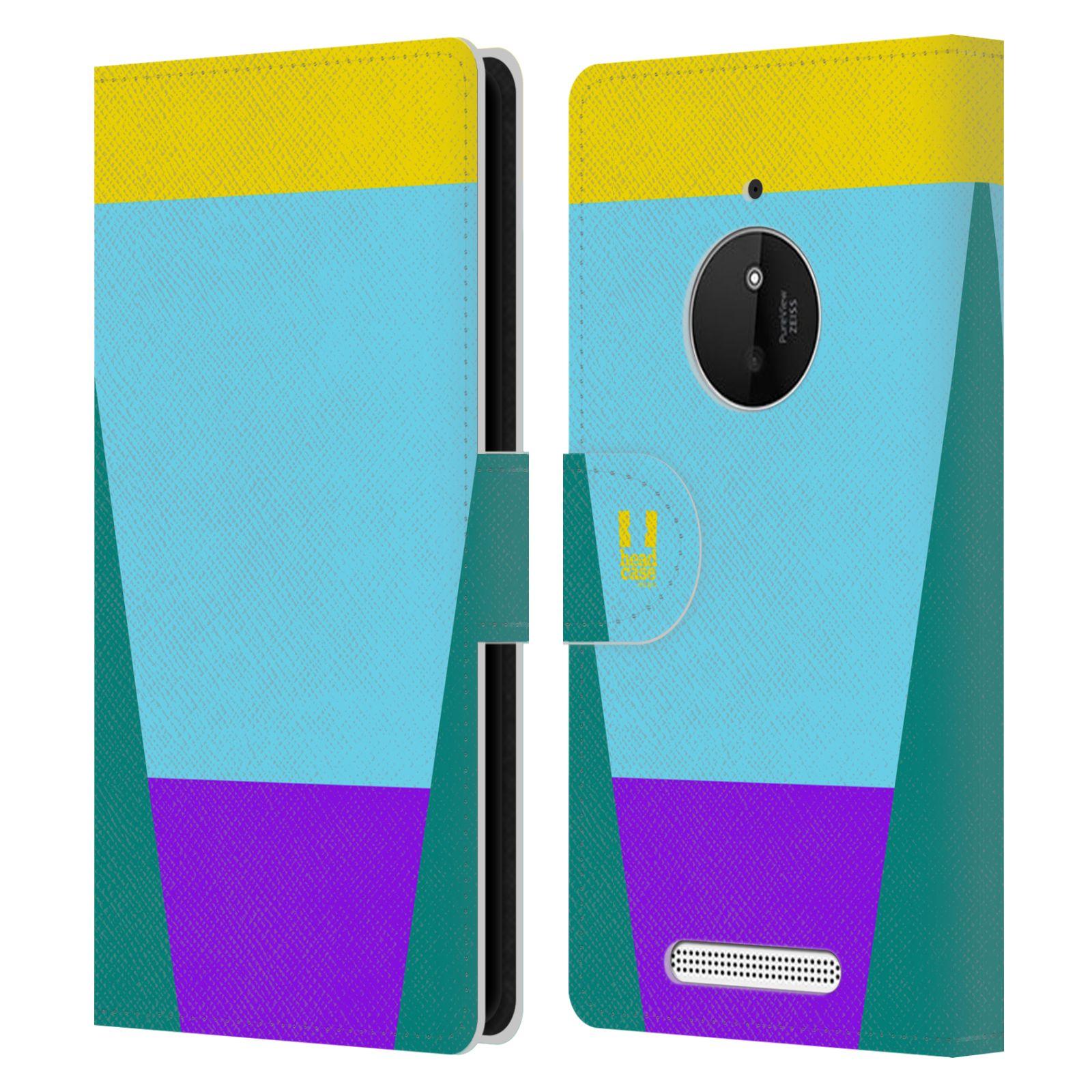 HEAD CASE Flipové pouzdro pro mobil Nokia LUMIA 830 barevné tvary nebesky modrá