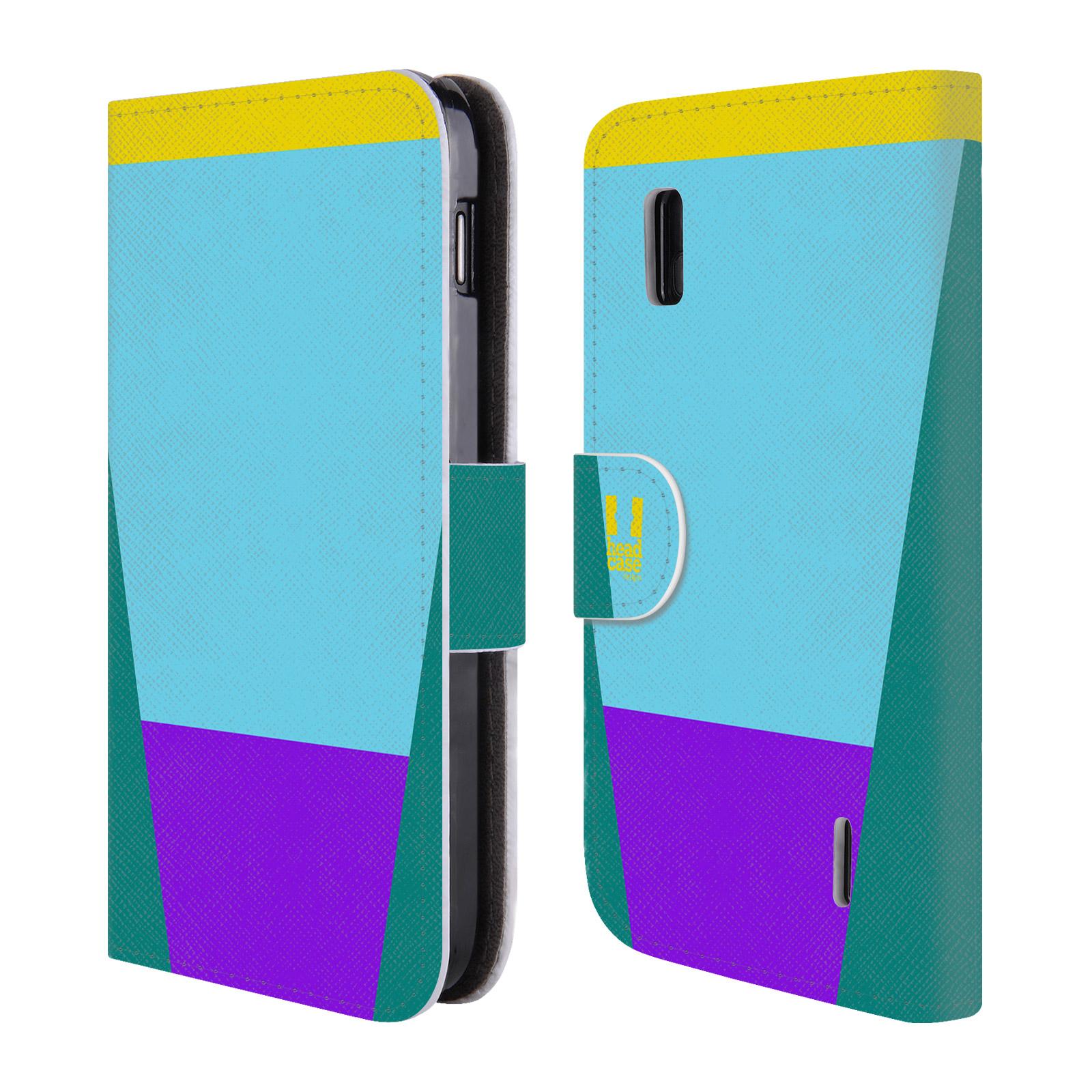 HEAD CASE Flipové pouzdro pro mobil LG NEXUS 4 barevné tvary nebesky modrá