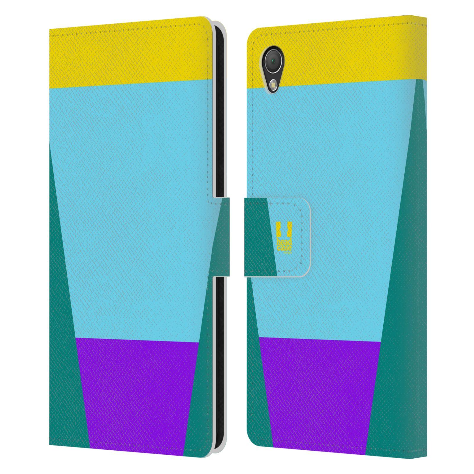 HEAD CASE Flipové pouzdro pro mobil SONY XPERIA Z3 barevné tvary nebesky modrá