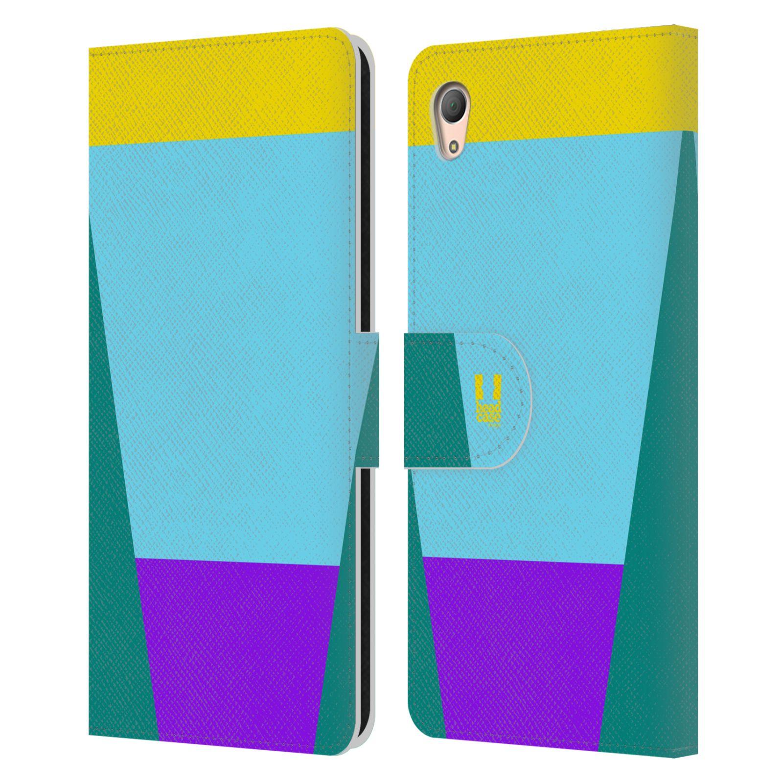 HEAD CASE Flipové pouzdro pro mobil SONY XPERIA Z3+(Z3 PLUS) barevné tvary nebesky modrá