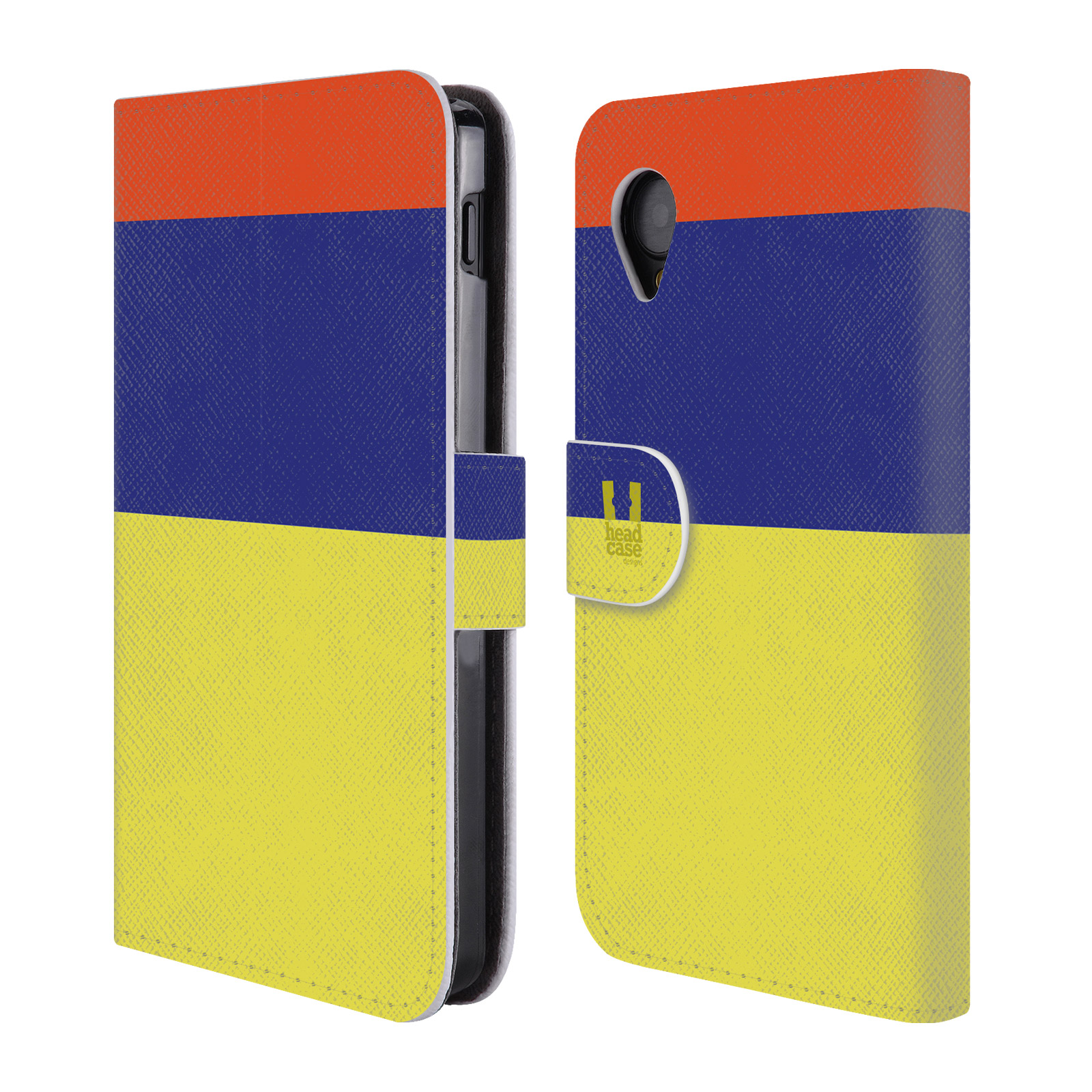 HEAD CASE Flipové pouzdro pro mobil LG GOOGLE NEXUS 5 barevné tvary žlutá, modrá, červená