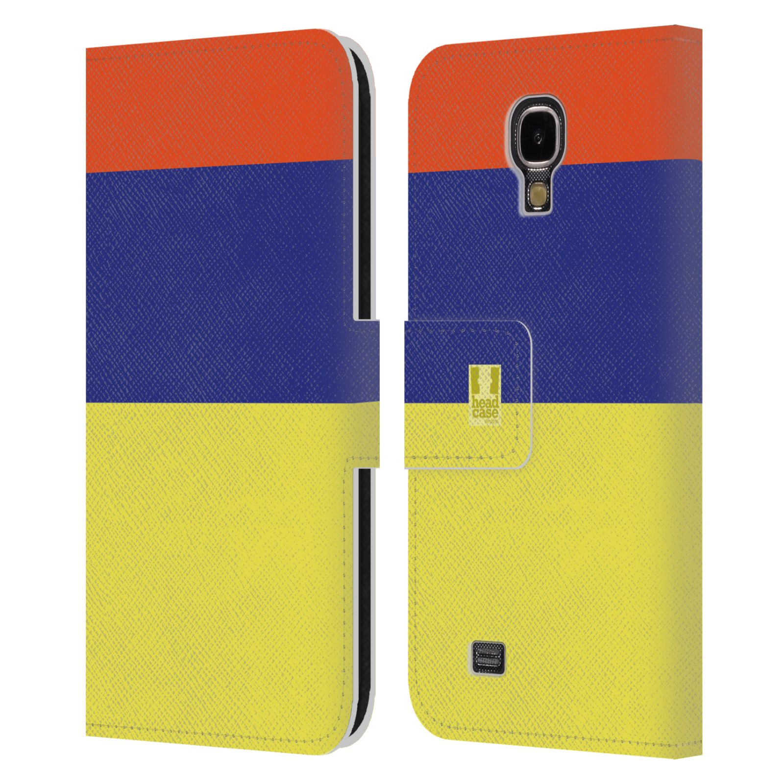 HEAD CASE Flipové pouzdro pro mobil Samsung Galaxy S4 I9500 barevné tvary žlutá, modrá, červená
