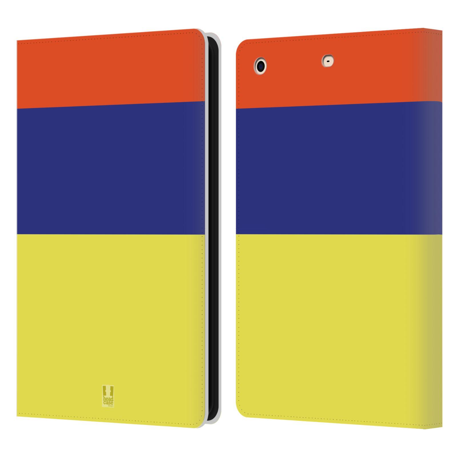 HEAD CASE Flipové pouzdro pro tablet Apple iPad mini barevné tvary žlutá, modrá, červená