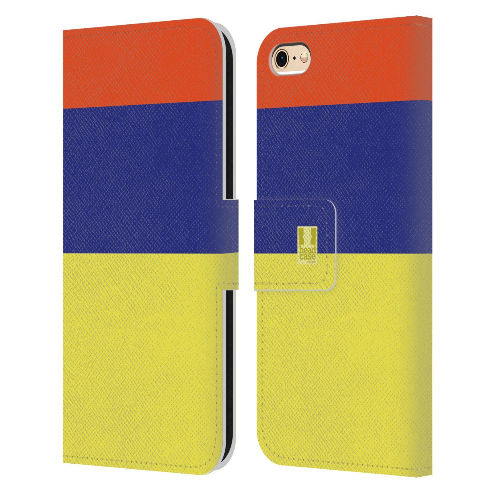 HEAD CASE Flipové pouzdro pro mobil Apple Iphone 6/6s barevné tvary žlutá, modrá, červená
