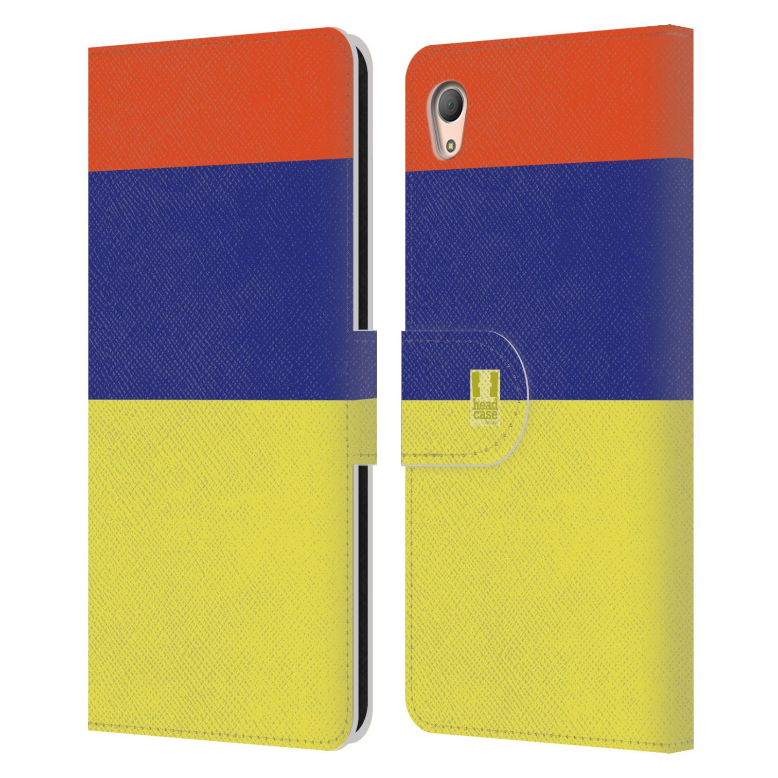 HEAD CASE Flipové pouzdro pro mobil SONY XPERIA Z3+(Z3 PLUS) barevné tvary žlutá, modrá, červená