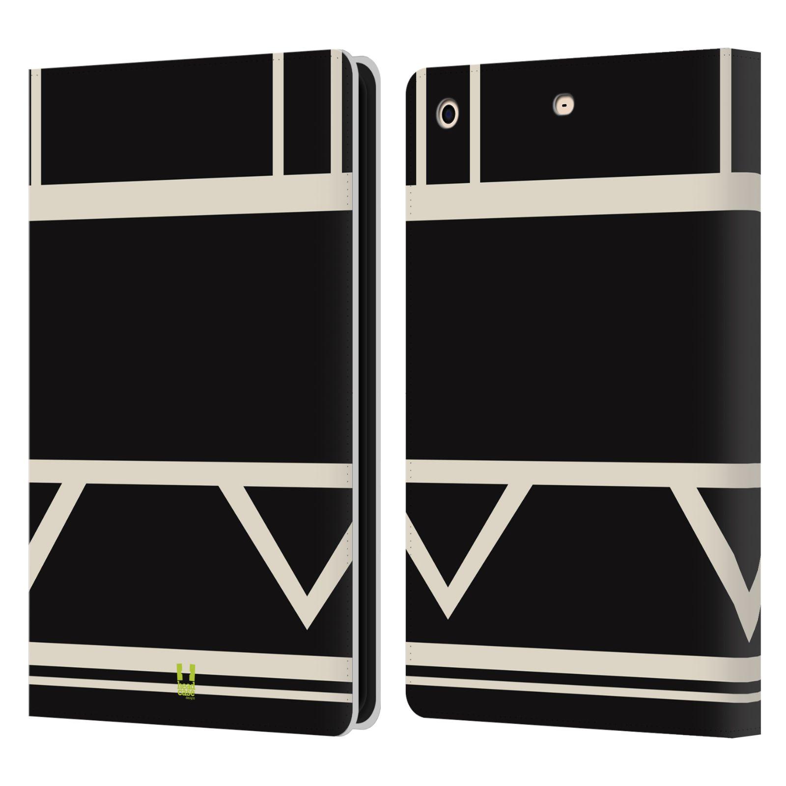 HEAD CASE Flipové pouzdro pro tablet Apple iPad mini barevné tvary černá a bílá proužek