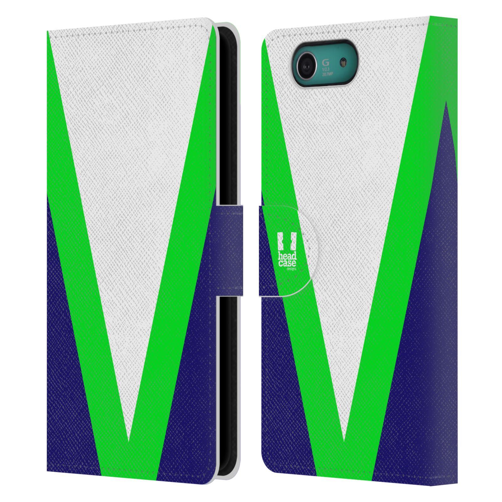 HEAD CASE Flipové pouzdro pro mobil SONY XPERIA Z3 COMPACT barevné tvary zelená a modrá