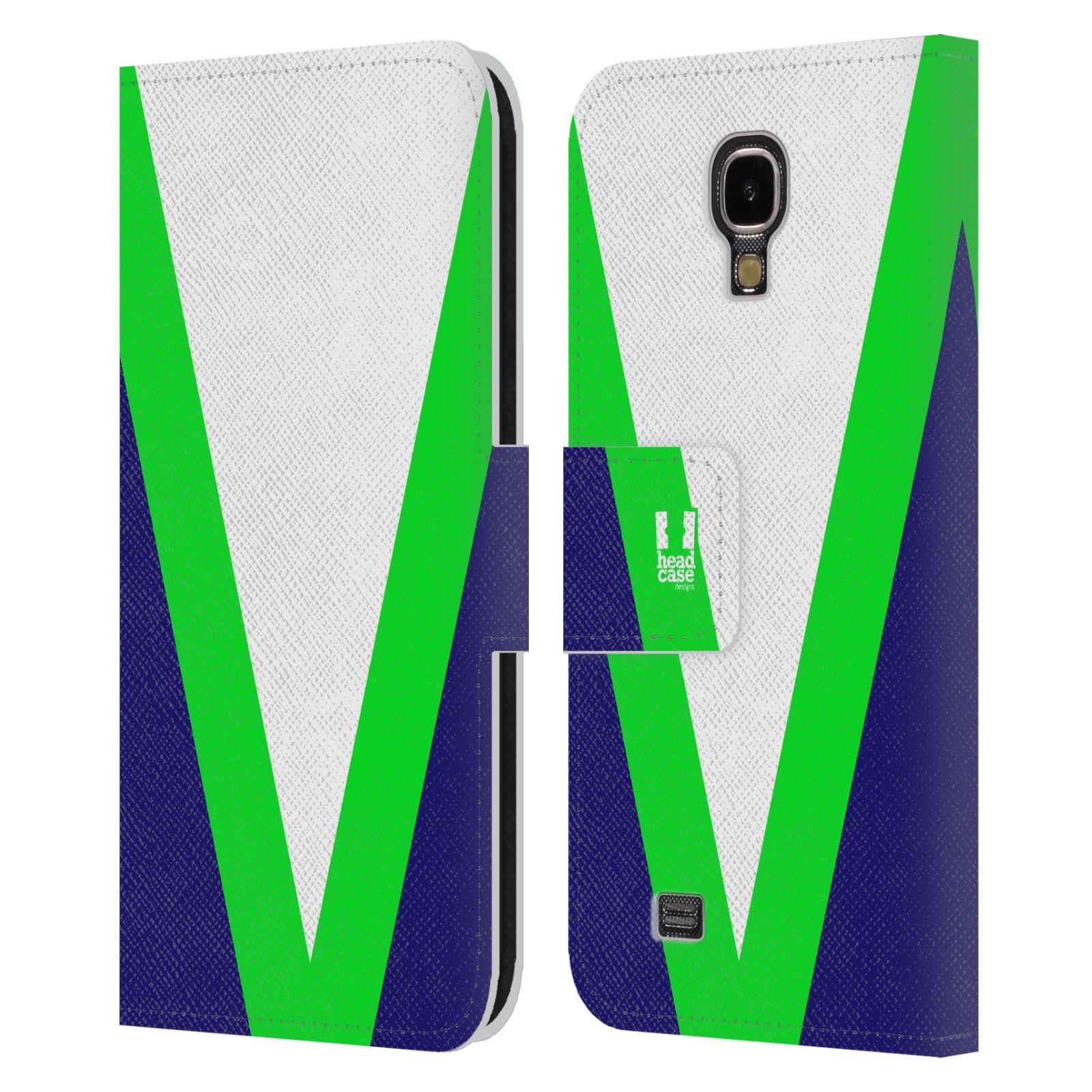 HEAD CASE Flipové pouzdro pro mobil Samsung Galaxy S4 I9500 barevné tvary zelená a modrá