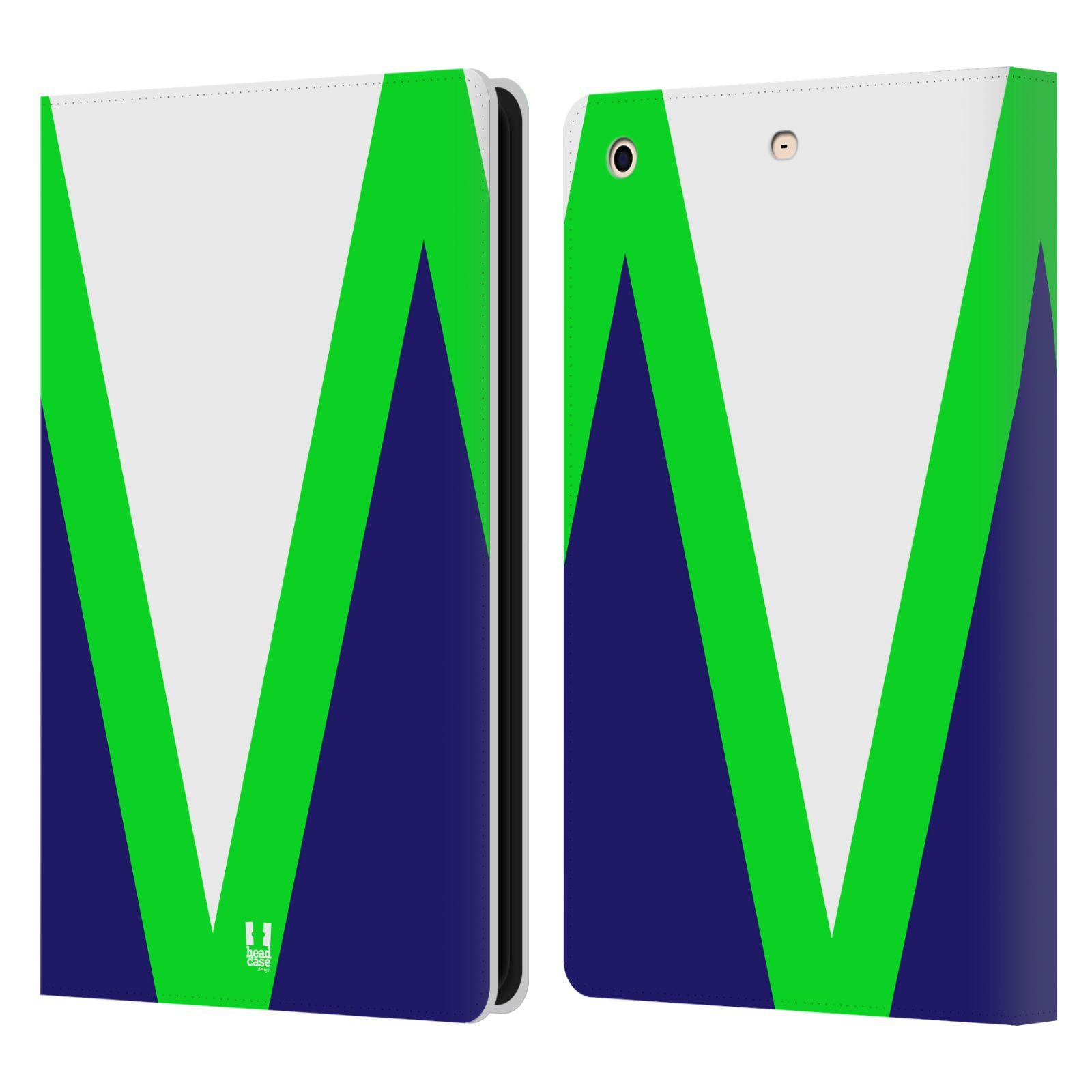 HEAD CASE Flipové pouzdro pro tablet Apple iPad mini barevné tvary zelená a modrá