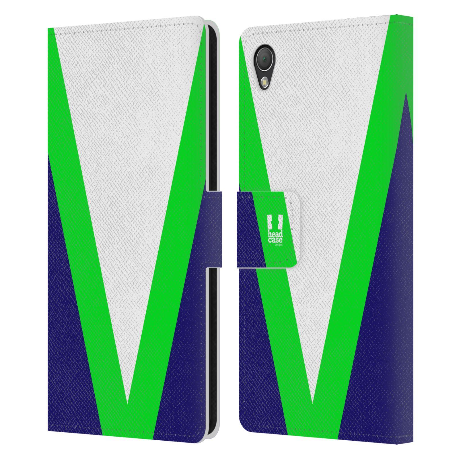 HEAD CASE Flipové pouzdro pro mobil SONY XPERIA Z3 barevné tvary zelená a modrá