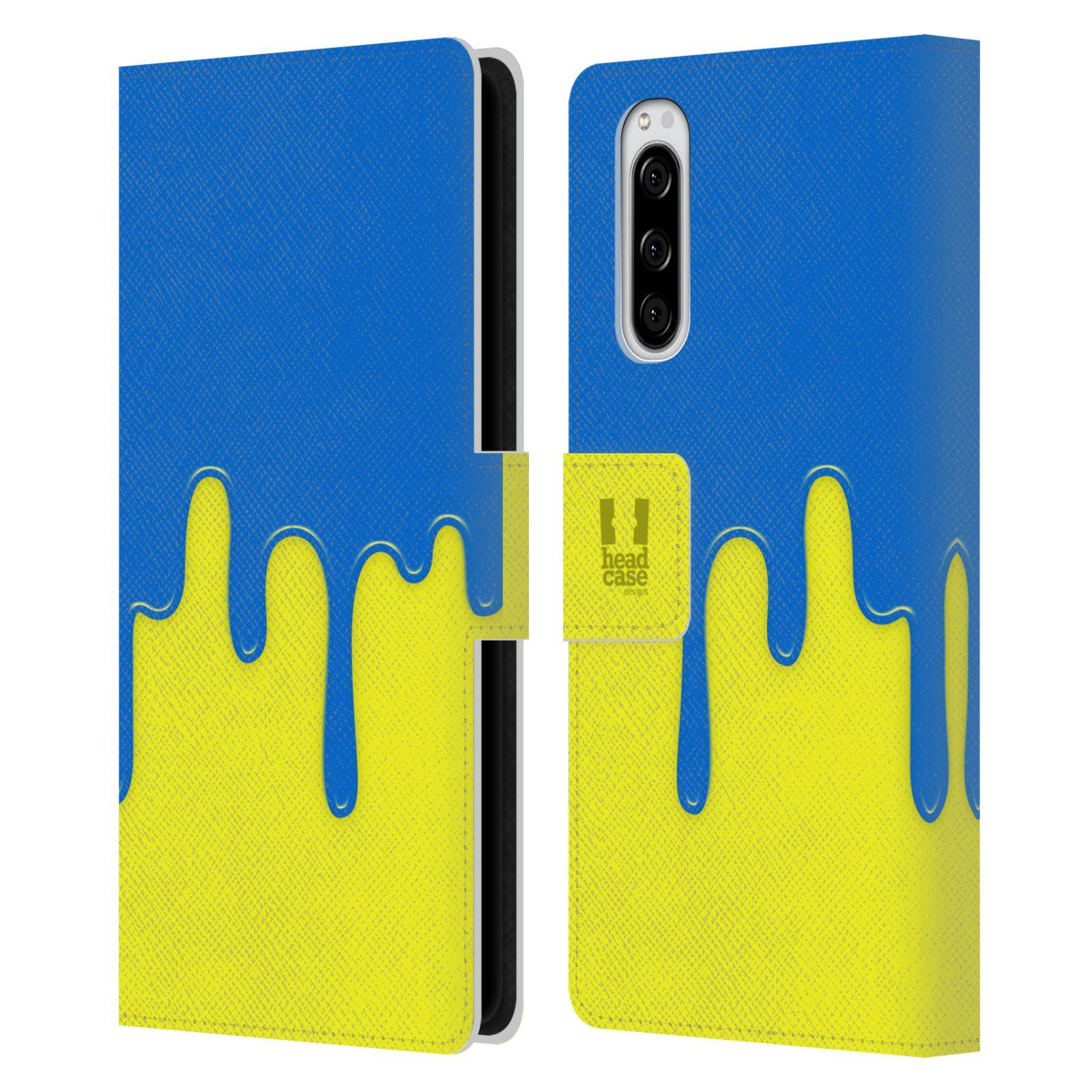 Pouzdro na mobil Sony Xperia 5 Rozlitá barva modrá a žlutá