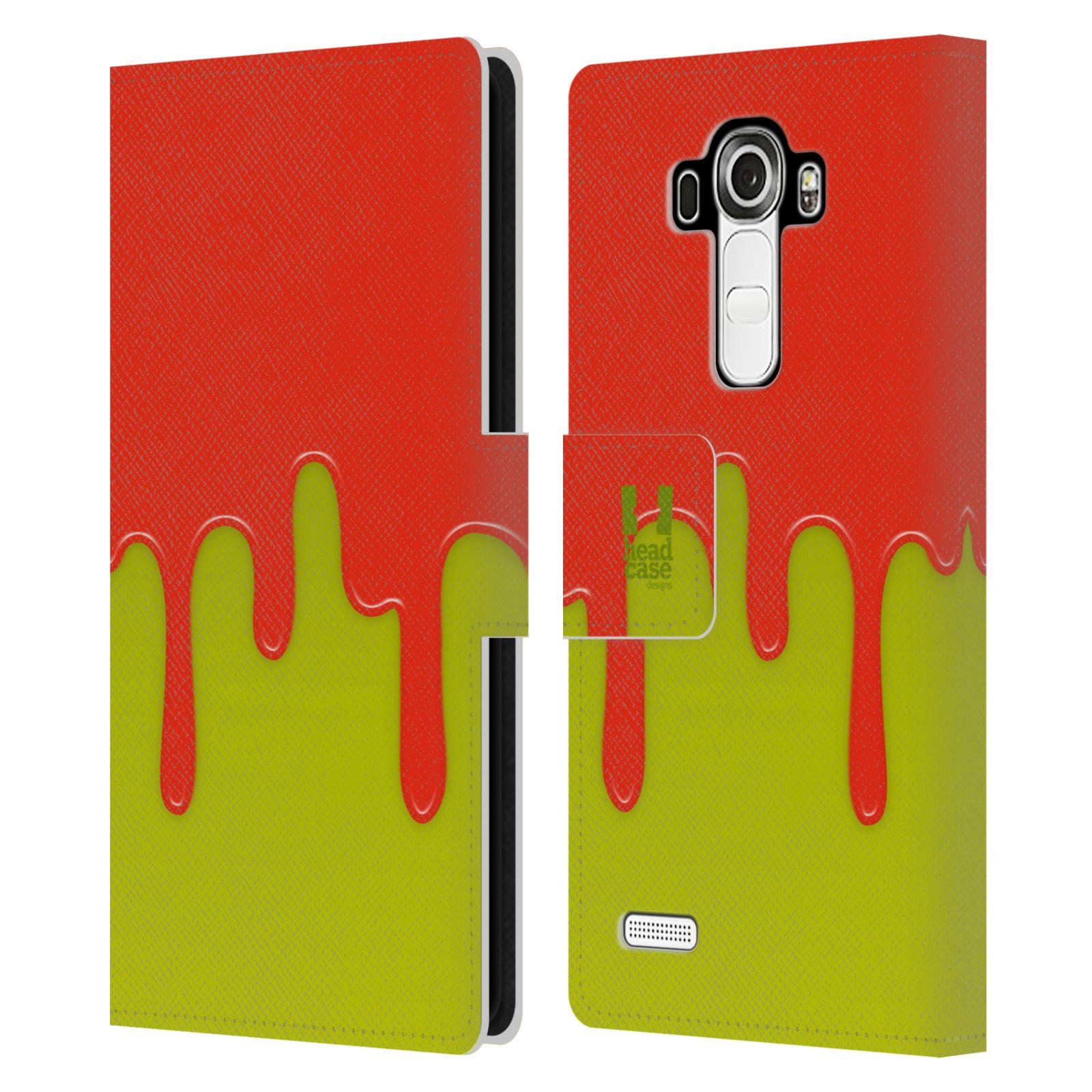 HEAD CASE Flipové pouzdro pro mobil LG G4 (H815) Rozlitá barva oranžová a zelená