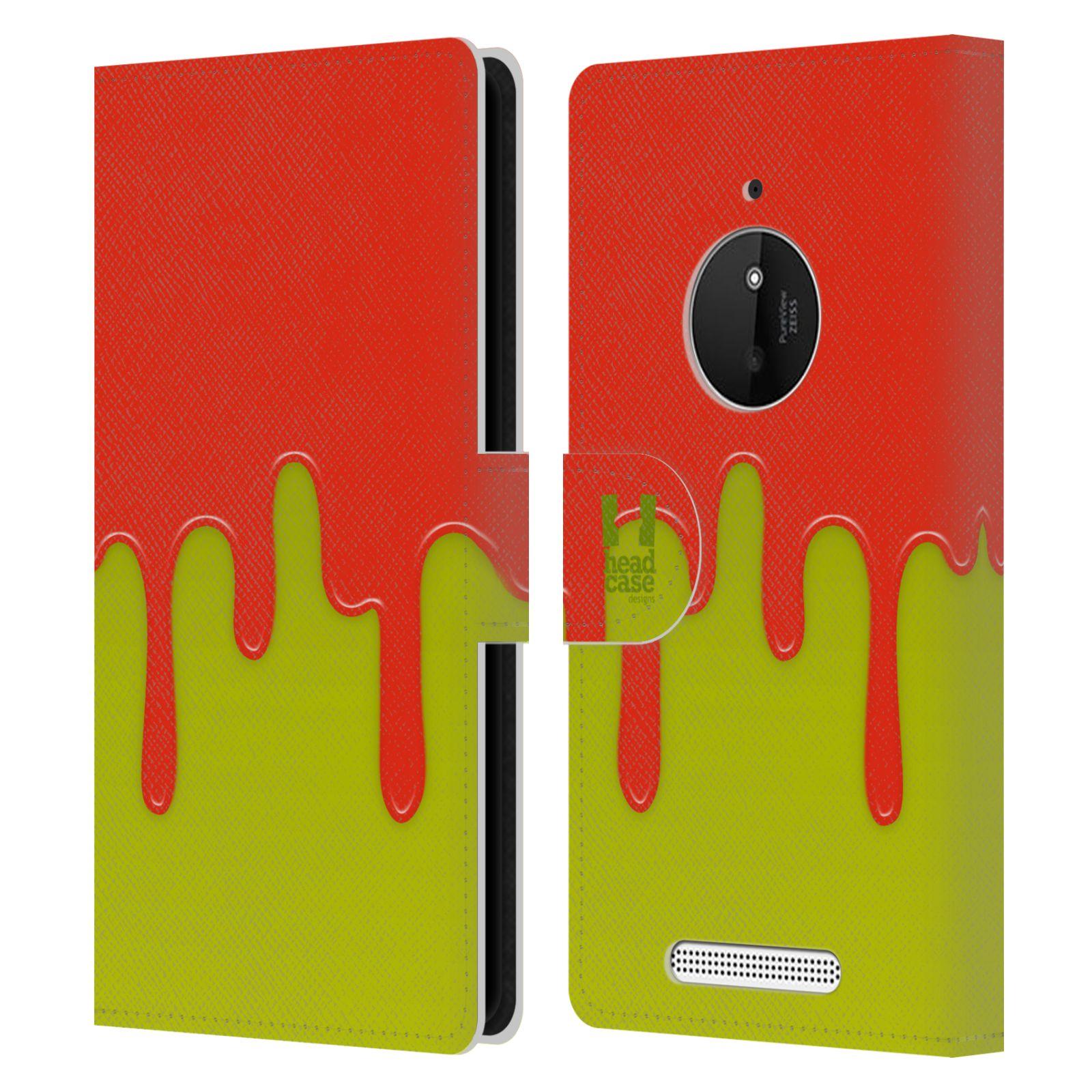HEAD CASE Flipové pouzdro pro mobil NOKIA LUMIA 830 Rozlitá barva oranžová a zelená