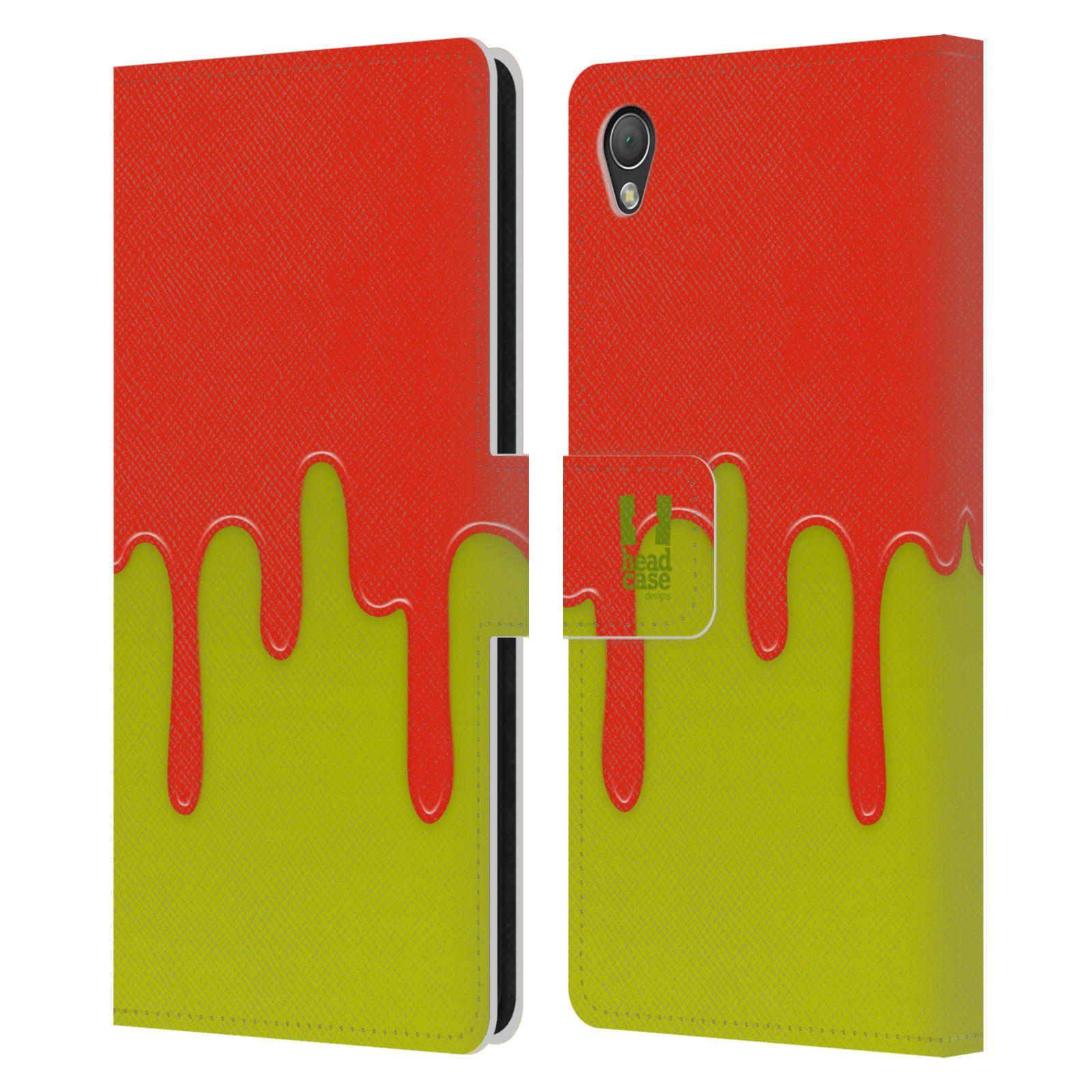 HEAD CASE Flipové pouzdro pro mobil SONY XPERIA Z3 Rozlitá barva oranžová a zelená