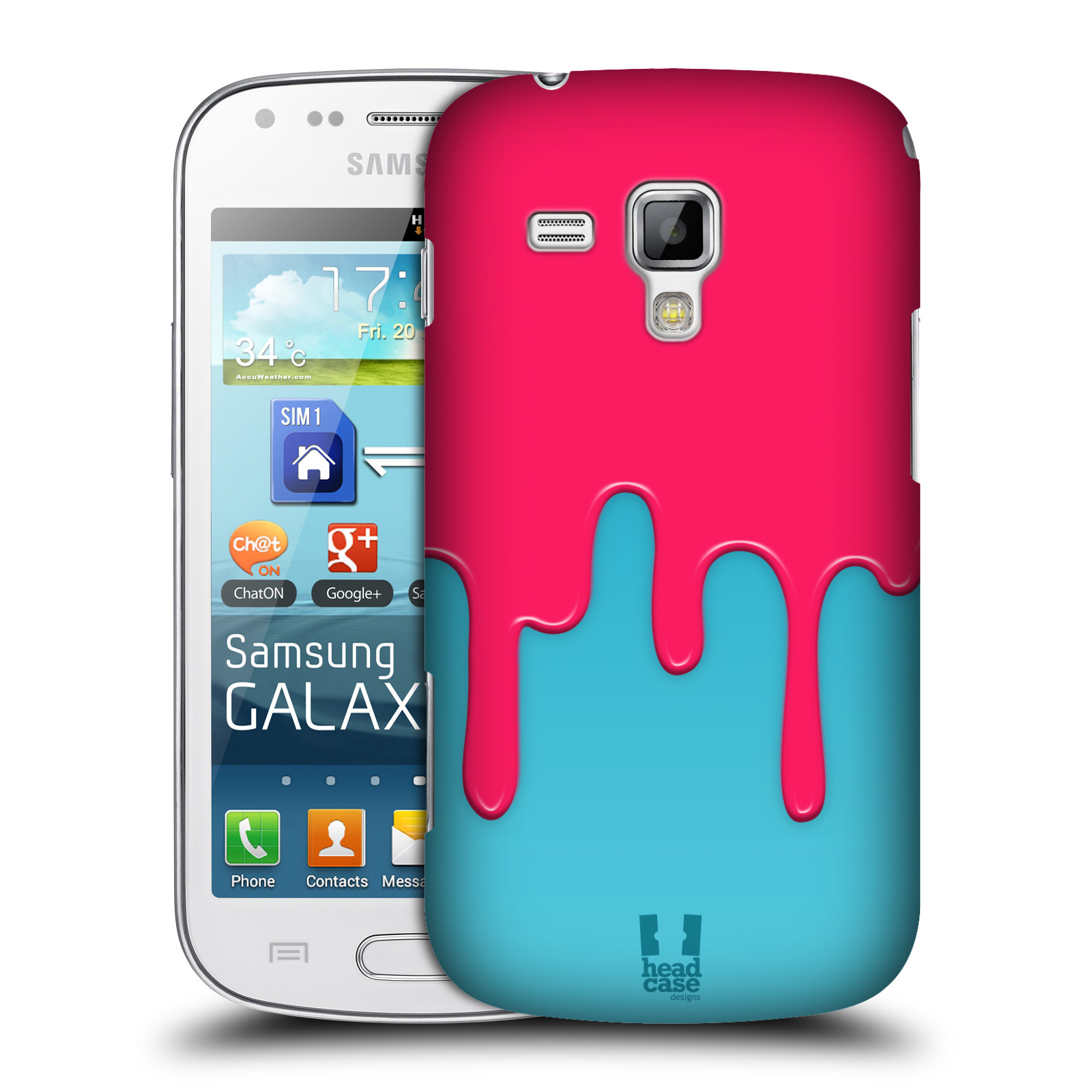 HEAD CASE DESIGNS COLOUR BLOCK MELTDOWN CASE FOR SAMSUNG GALAXY TREND S7560