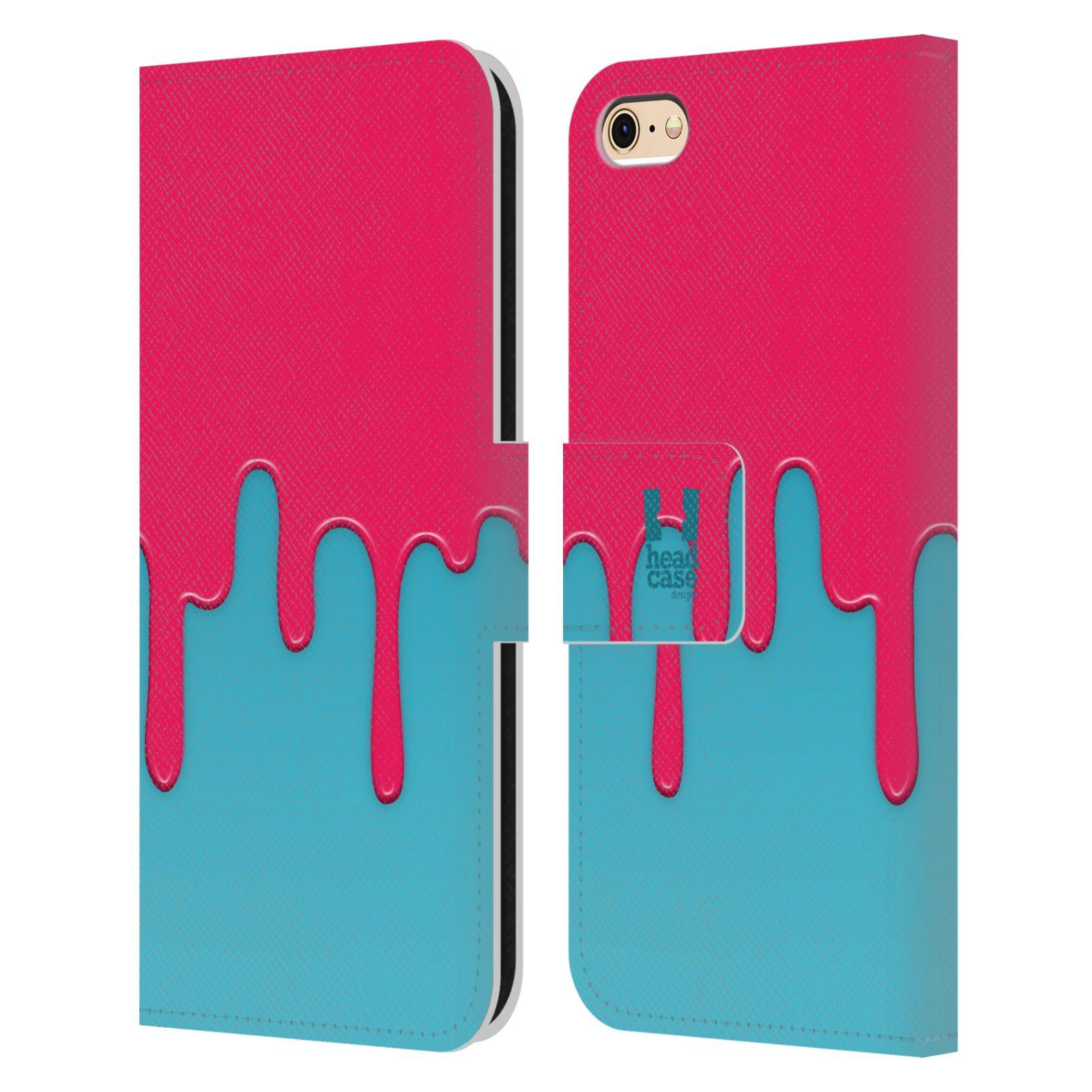 HEAD CASE Flipové pouzdro pro mobil Apple Iphone 6/6s Rozlitá barva růžová a modrá