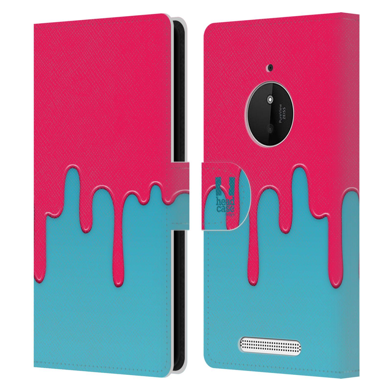 HEAD CASE Flipové pouzdro pro mobil NOKIA LUMIA 830 Rozlitá barva růžová a modrá