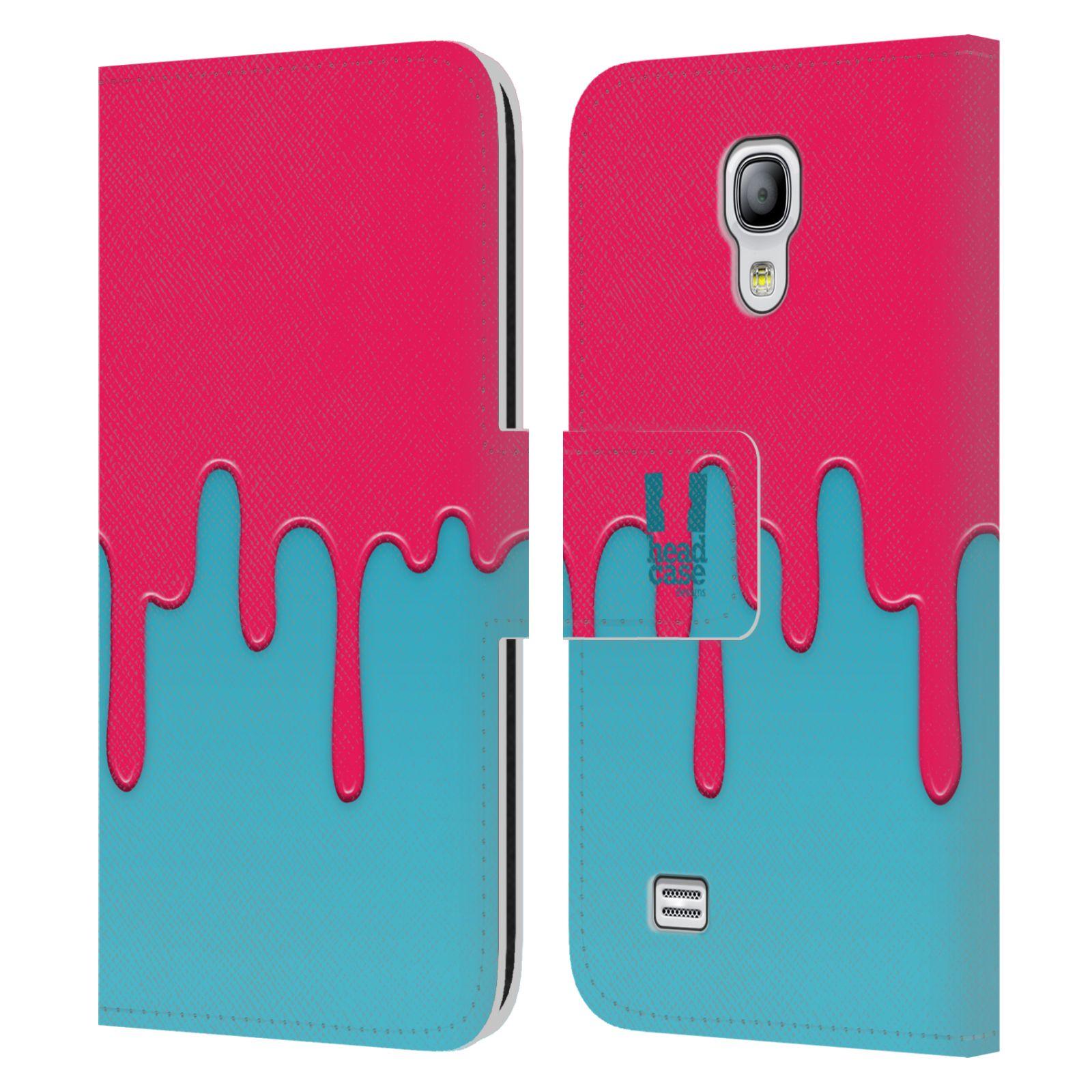 HEAD CASE Flipové pouzdro pro mobil Samsung Galaxy S4 MINI / S4 MINI DUOS Rozlitá barva růžová a modrá