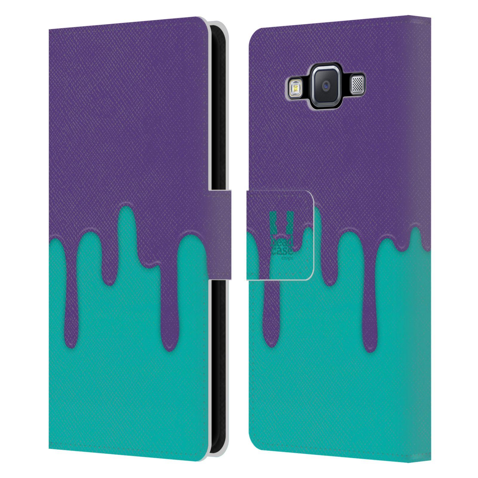 HEAD CASE Flipové pouzdro pro mobil Samsung Galaxy A5 Rozlitá barva fialová a tyrkysová