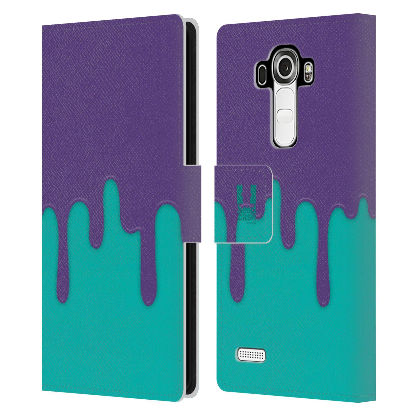 HEAD CASE Flipové pouzdro pro mobil LG G4 (H815) Rozlitá barva fialová a tyrkysová