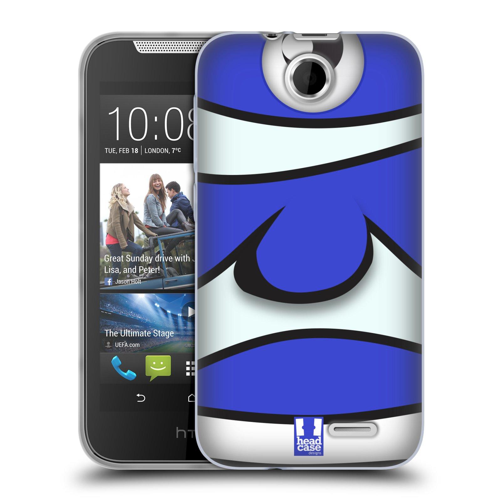 HEAD CASE silikonový obal na mobil HTC DESIRE 310 vzor Rybičky z profilu modrý klaun