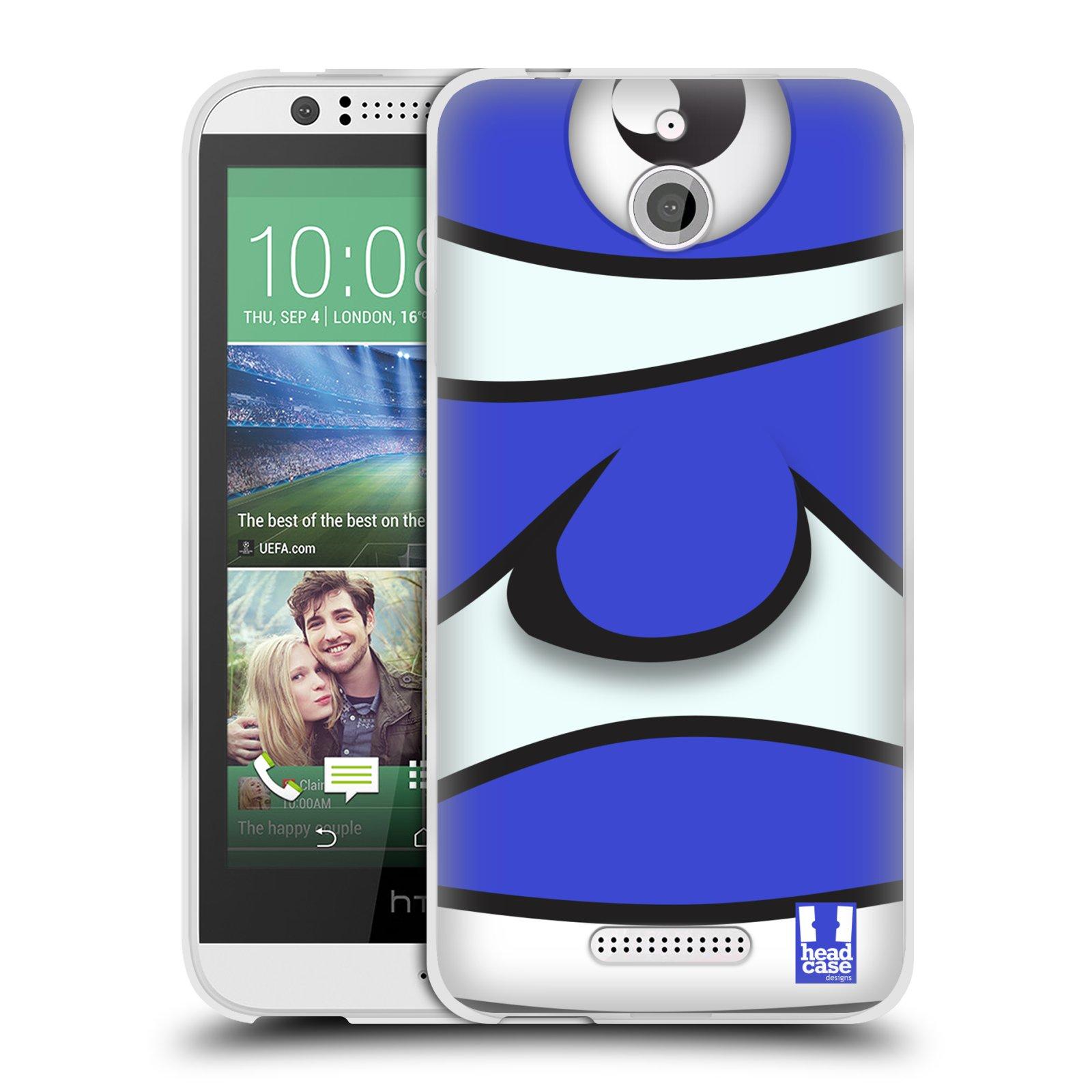HEAD CASE silikonový obal HTC DESIRE 510 vzor Rybičky z profilu modrý klaun