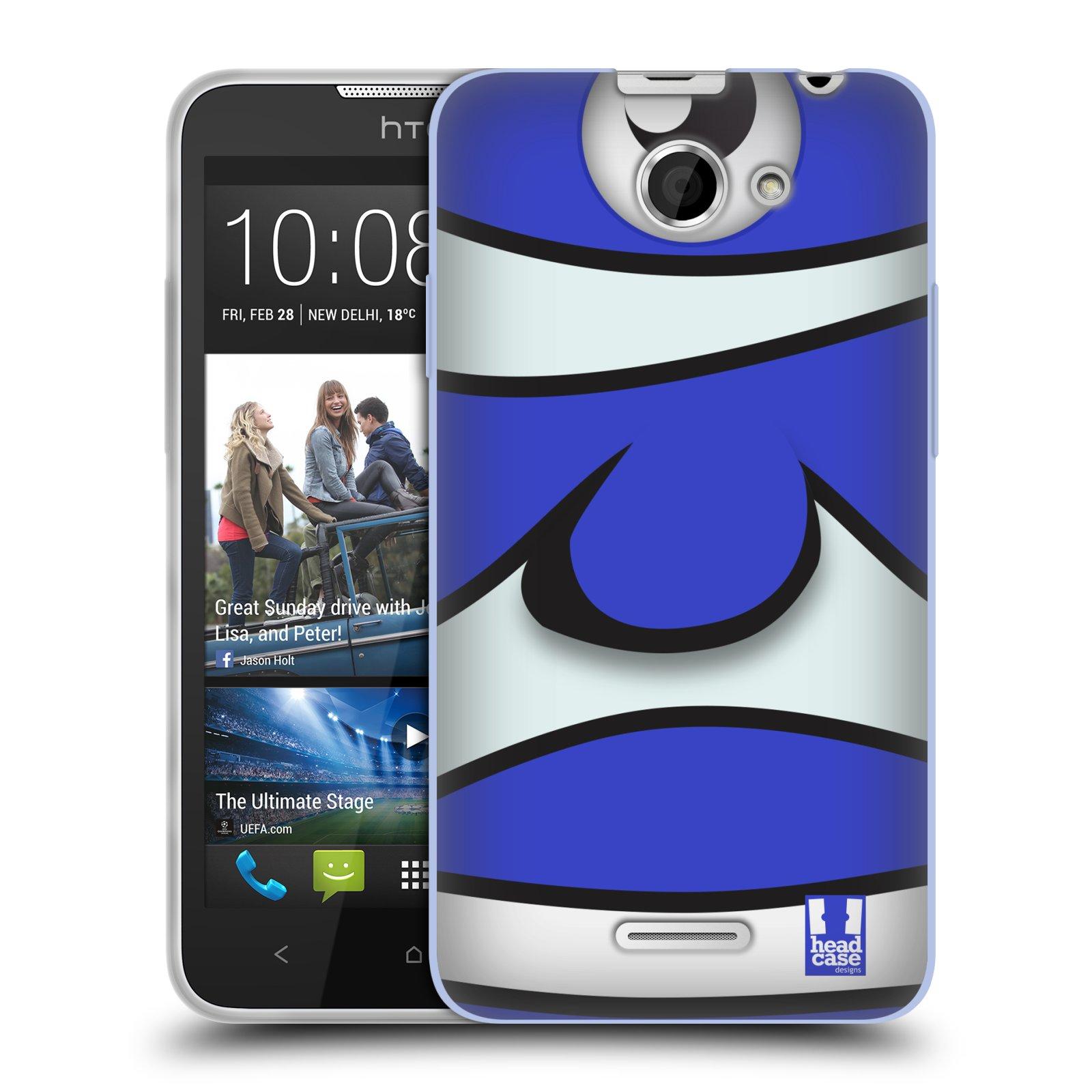 HEAD CASE silikonový obal na mobil HTC DESIRE 516 vzor Rybičky z profilu modrý klaun