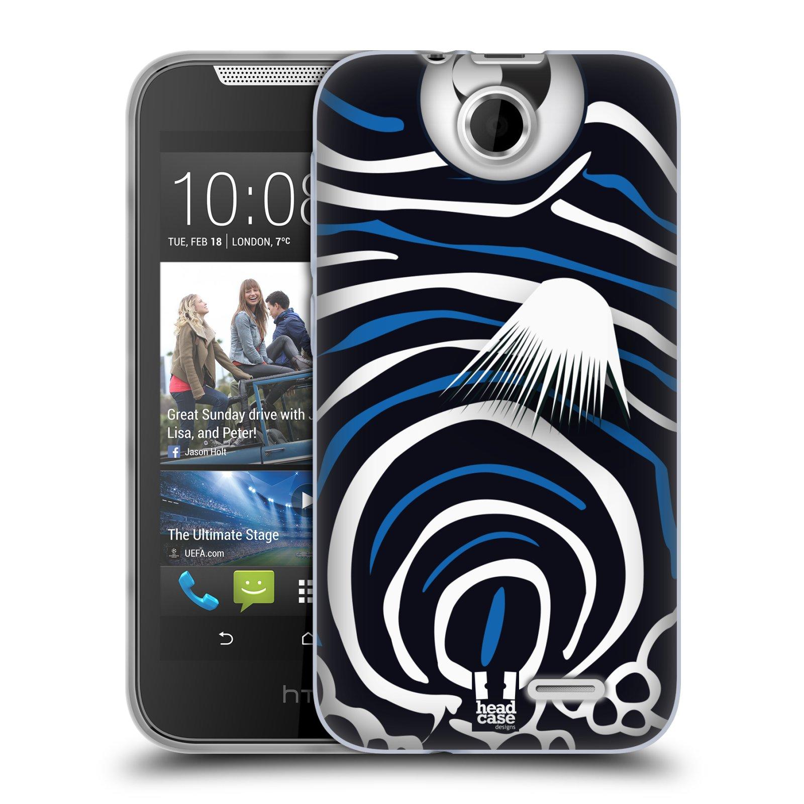 HEAD CASE silikonový obal na mobil HTC DESIRE 310 vzor Rybičky z profilu Angelfish