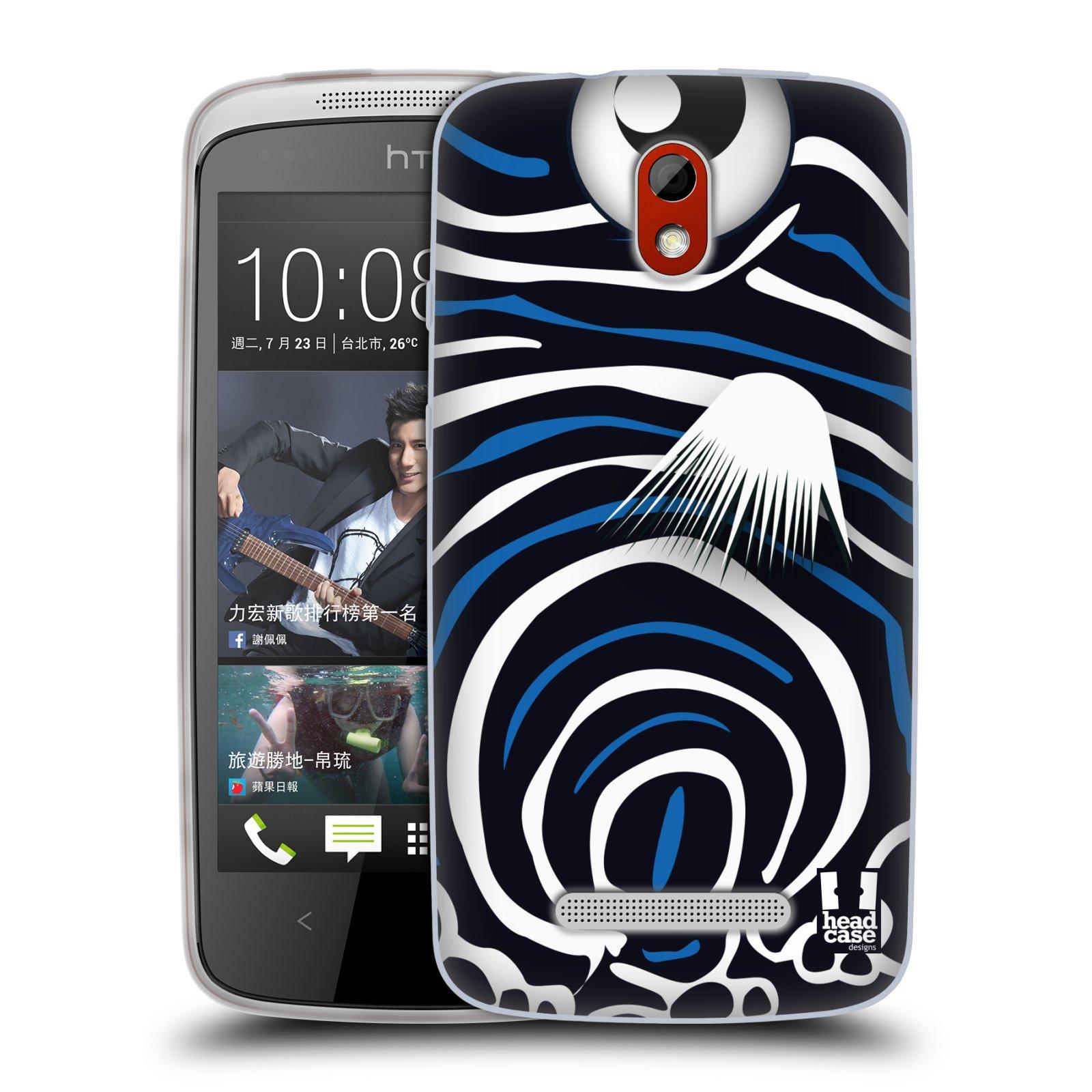 HEAD CASE silikonový obal na mobil HTC DESIRE 500 vzor Rybičky z profilu Angelfish