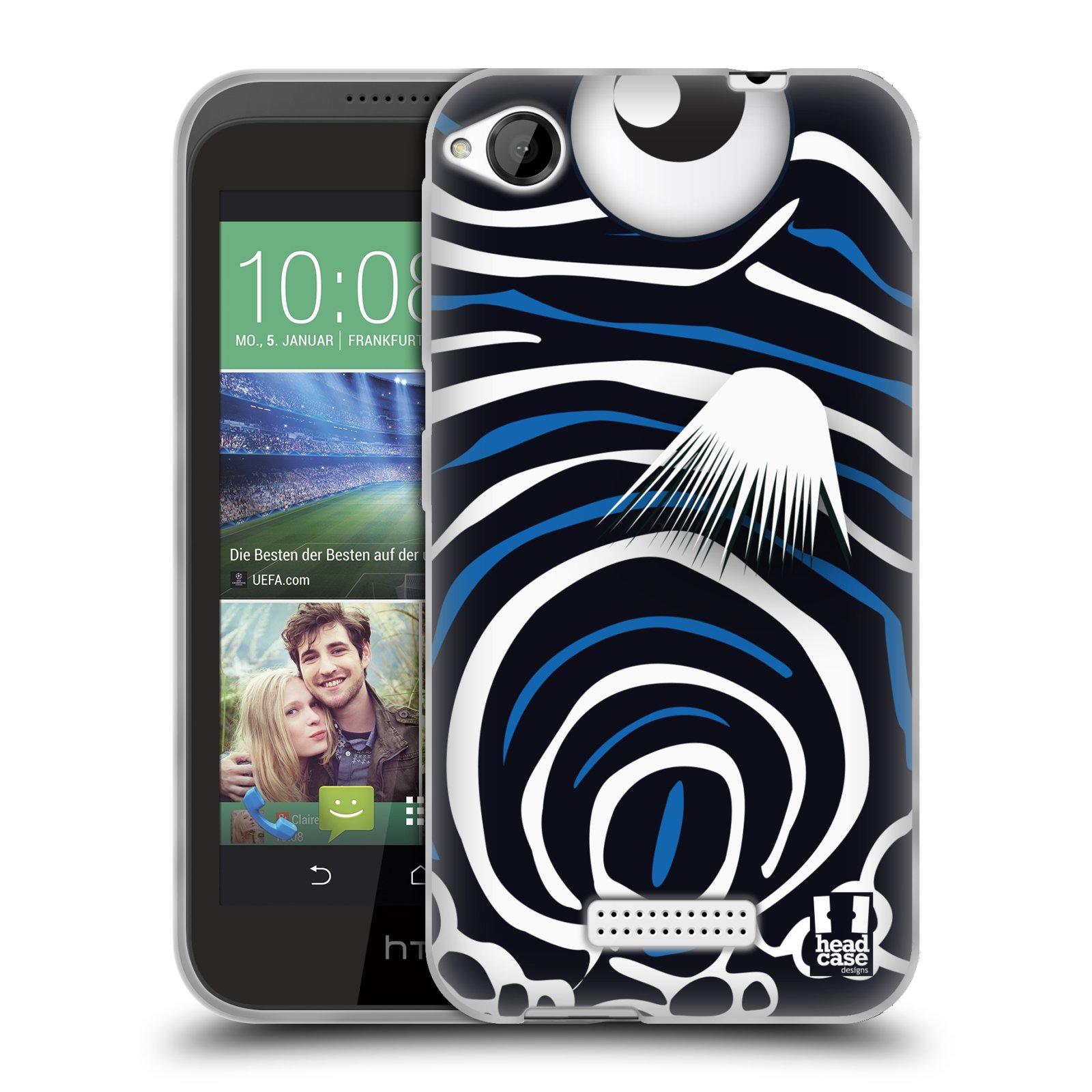 HEAD CASE silikonový obal na mobil HTC DESIRE 320 vzor Rybičky z profilu Angelfish