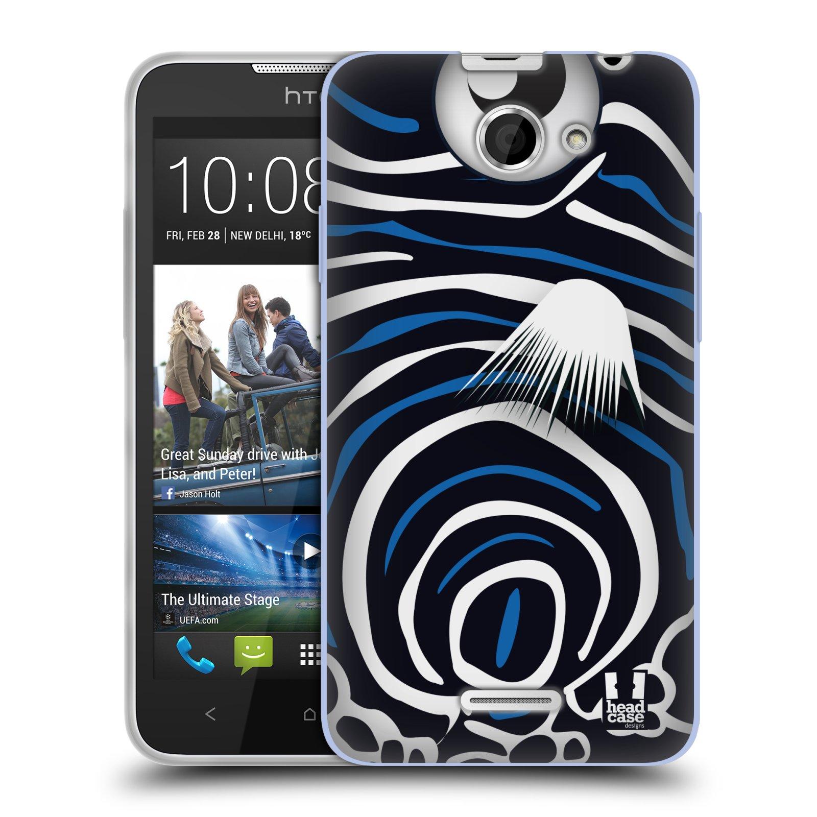 HEAD CASE silikonový obal na mobil HTC DESIRE 516 vzor Rybičky z profilu Angelfish