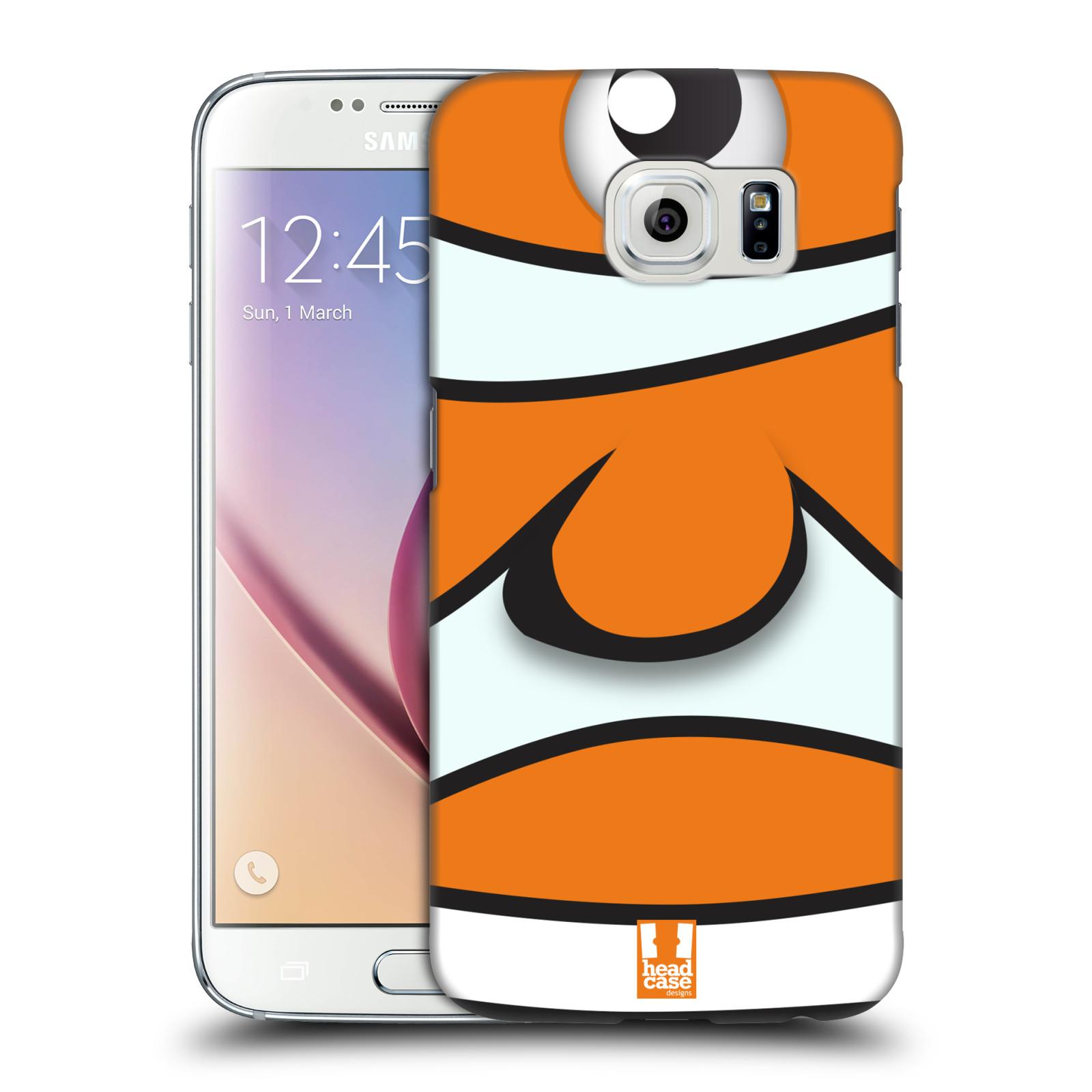 HEAD CASE plastový obal na mobil SAMSUNG Galaxy S6 (G9200, G920F) vzor Rybičky z profilu klaun oranžová NEMO