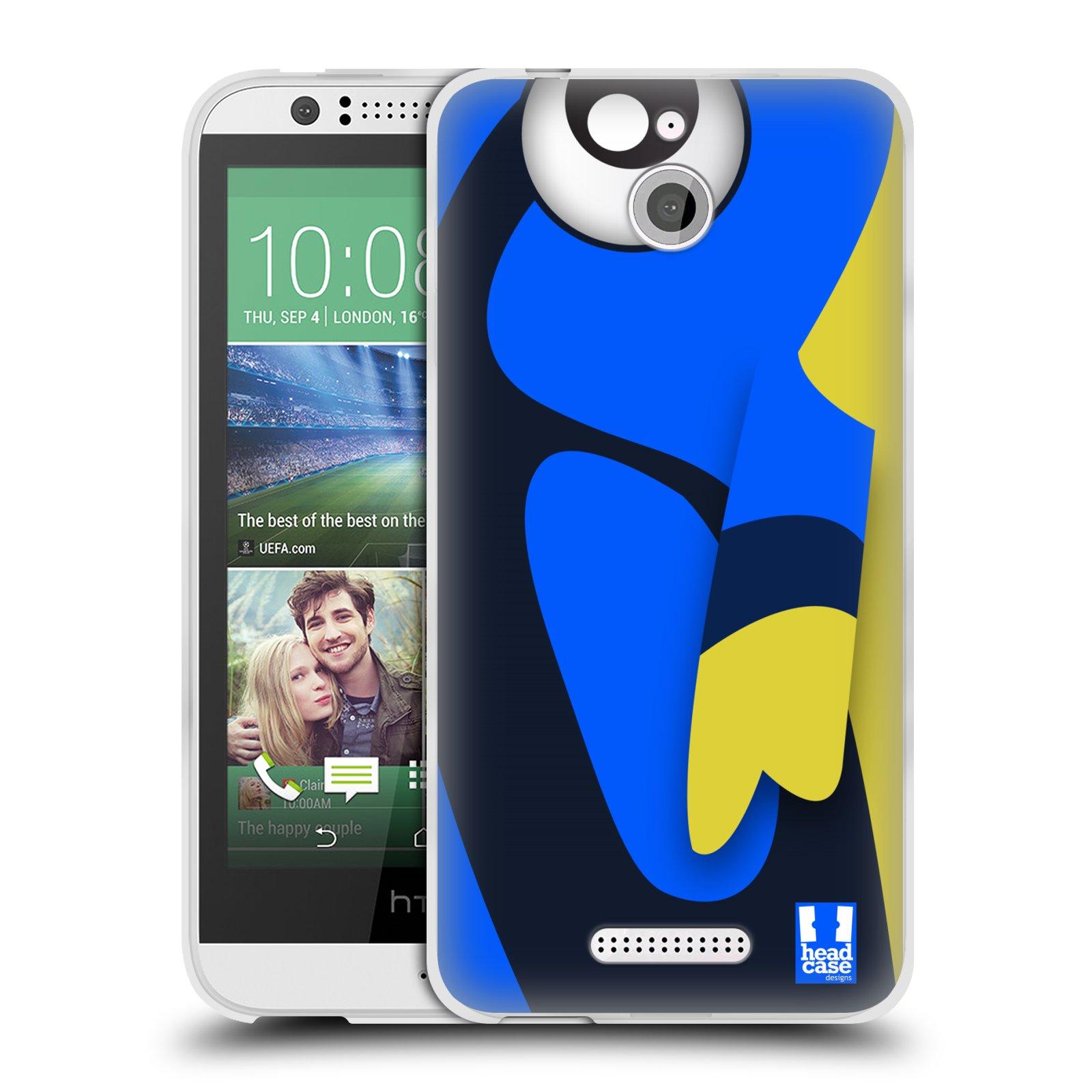 HEAD CASE silikonový obal HTC DESIRE 510 vzor Rybičky z profilu modrá a žlutá Dory