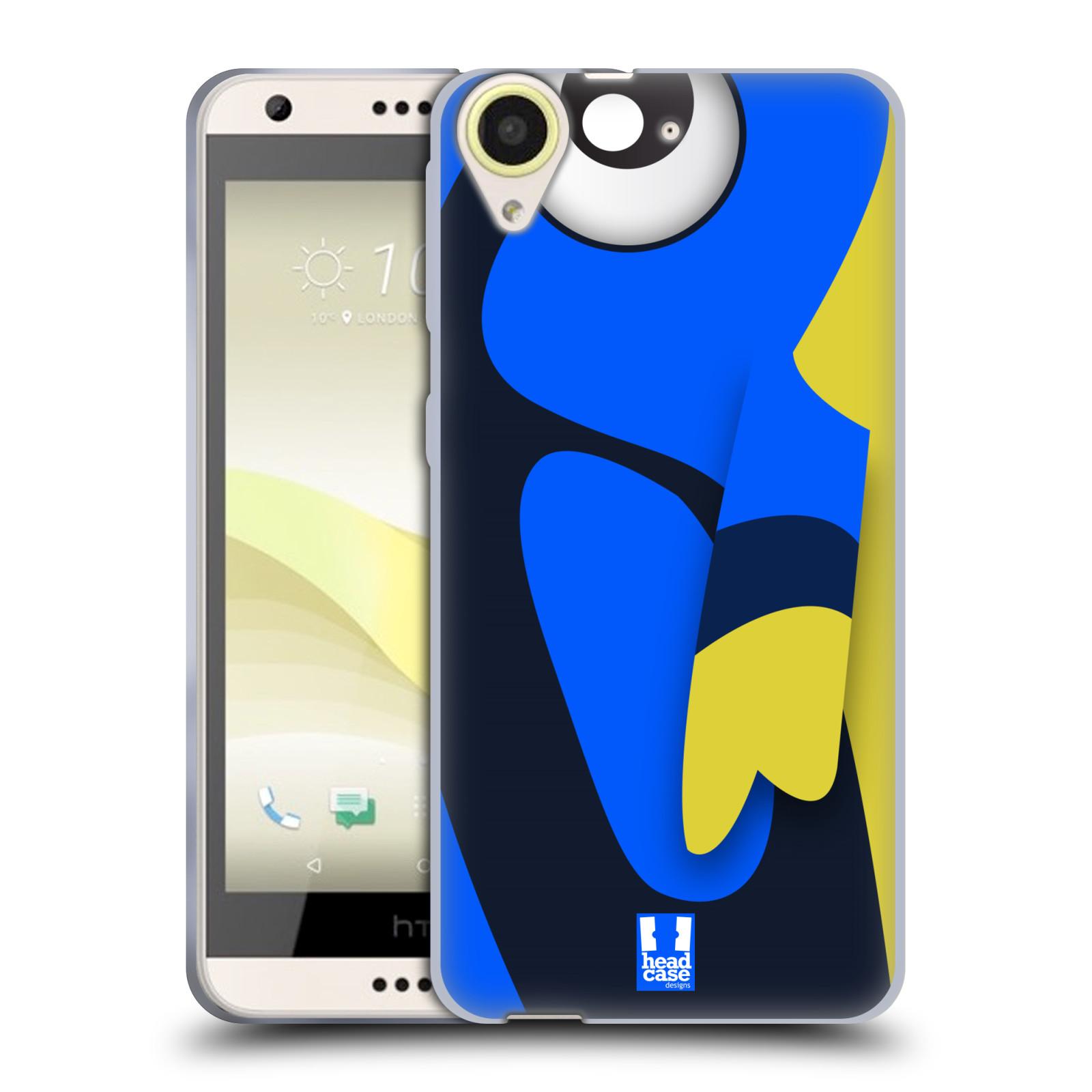 HEAD CASE silikonový obal na mobil HTC Desire 650 vzor Rybičky z profilu modrá a žlutá Dory