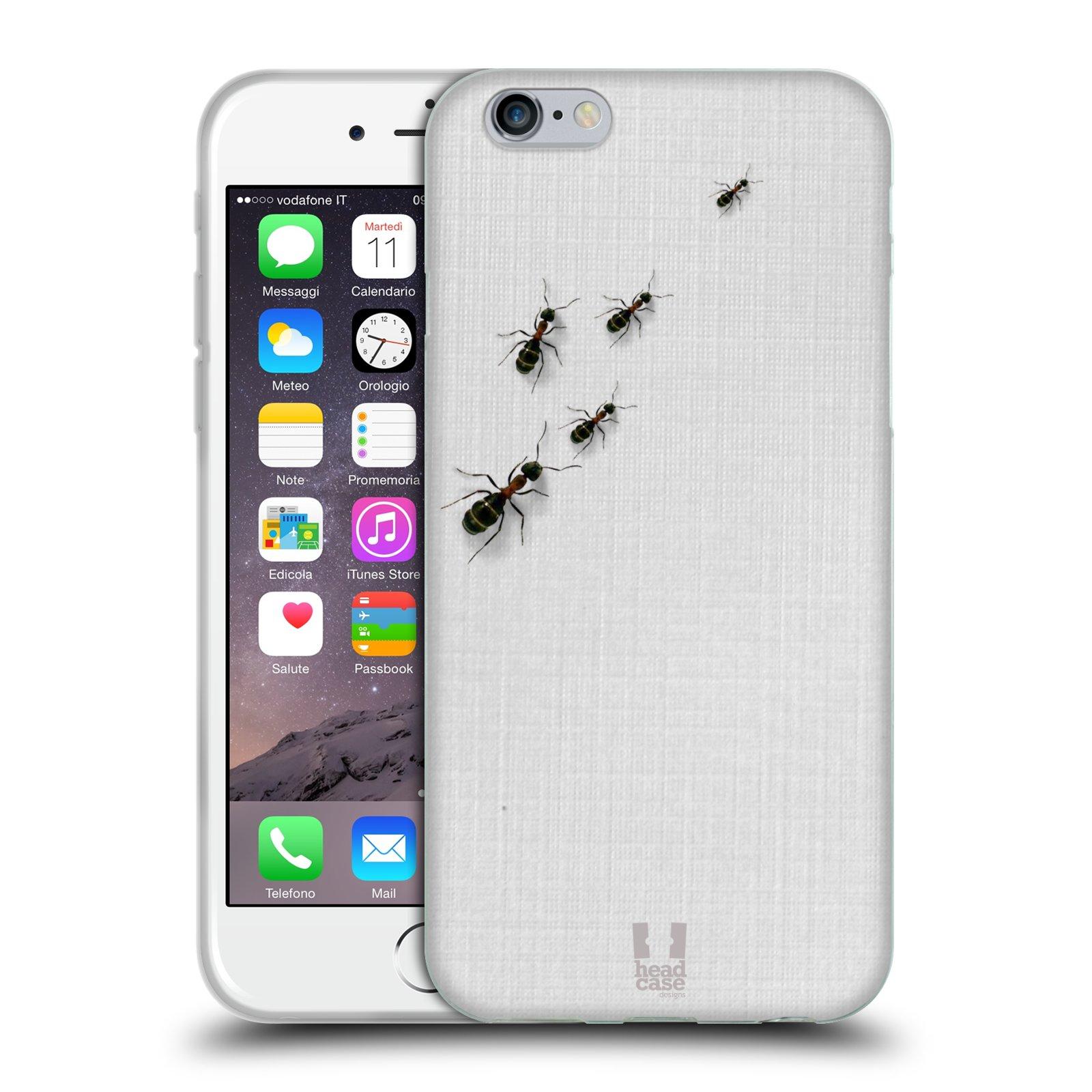 HEAD CASE silikonový obal na mobil Apple Iphone 6/6S vzor maskování mravenci